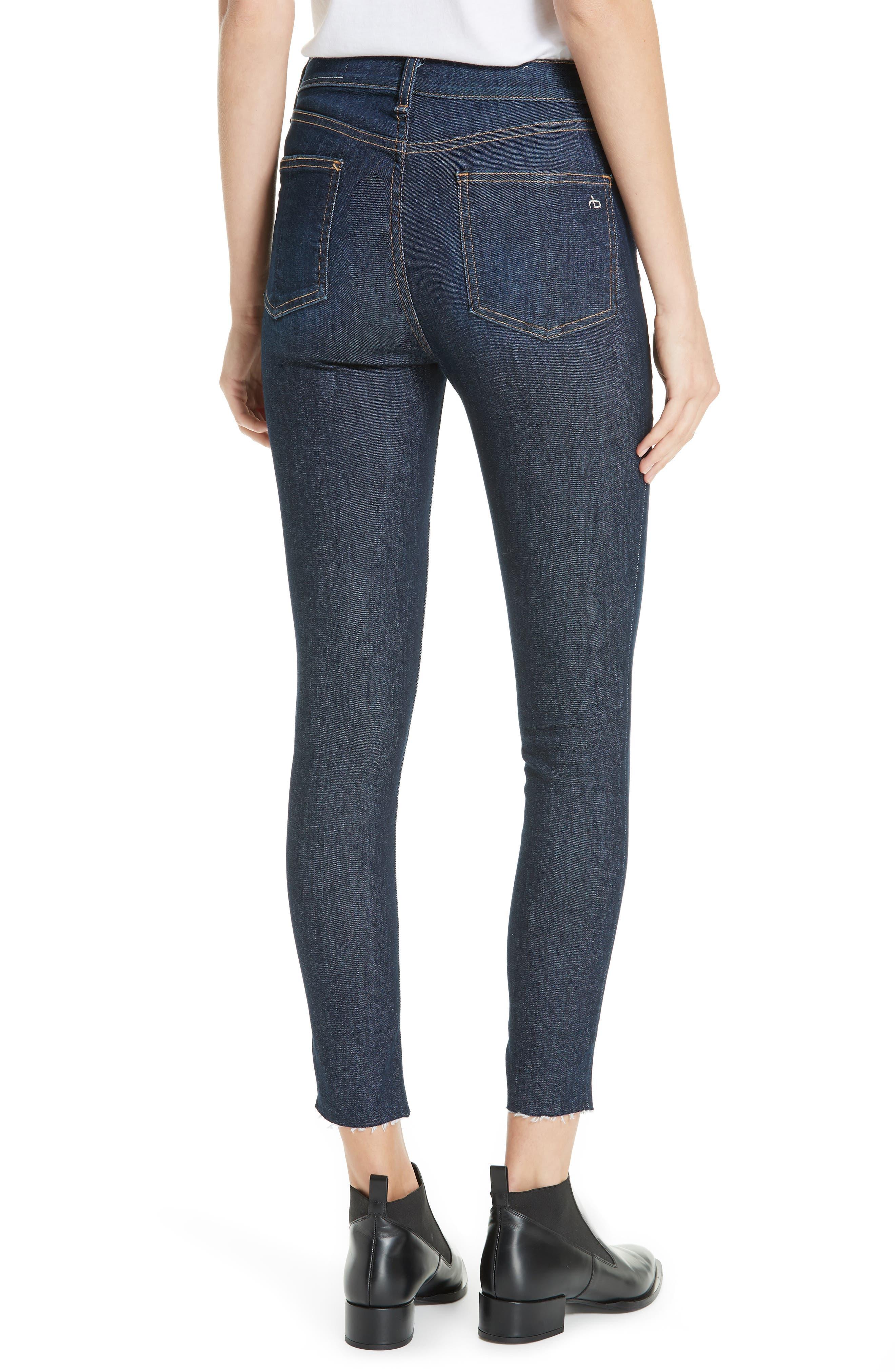 RAG & BONE, High Waist Skinny Ankle Jeans, Alternate thumbnail 2, color, 402