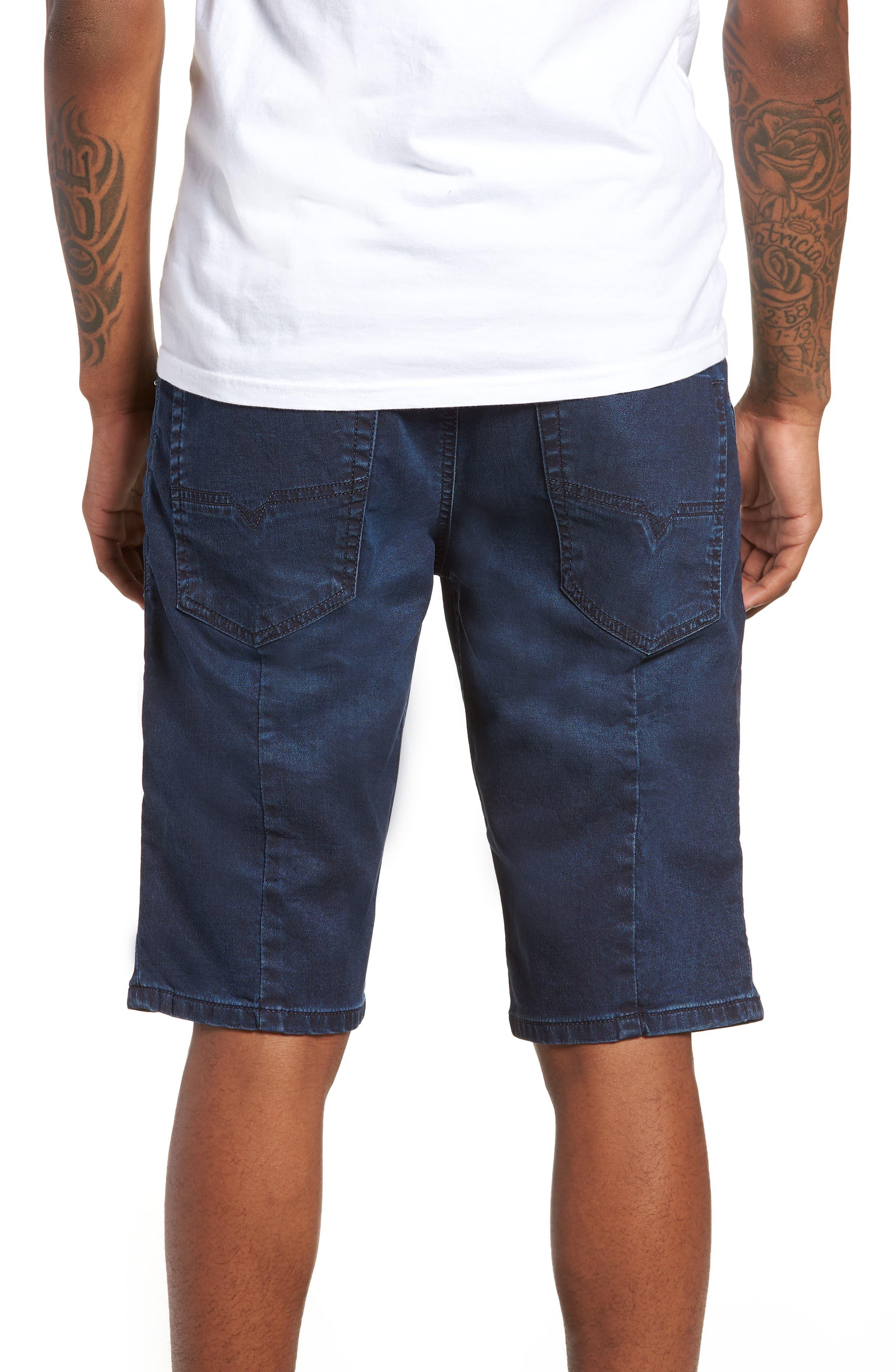 DIESEL<SUP>®</SUP>, Krooshort Denim Shorts, Alternate thumbnail 2, color, 400