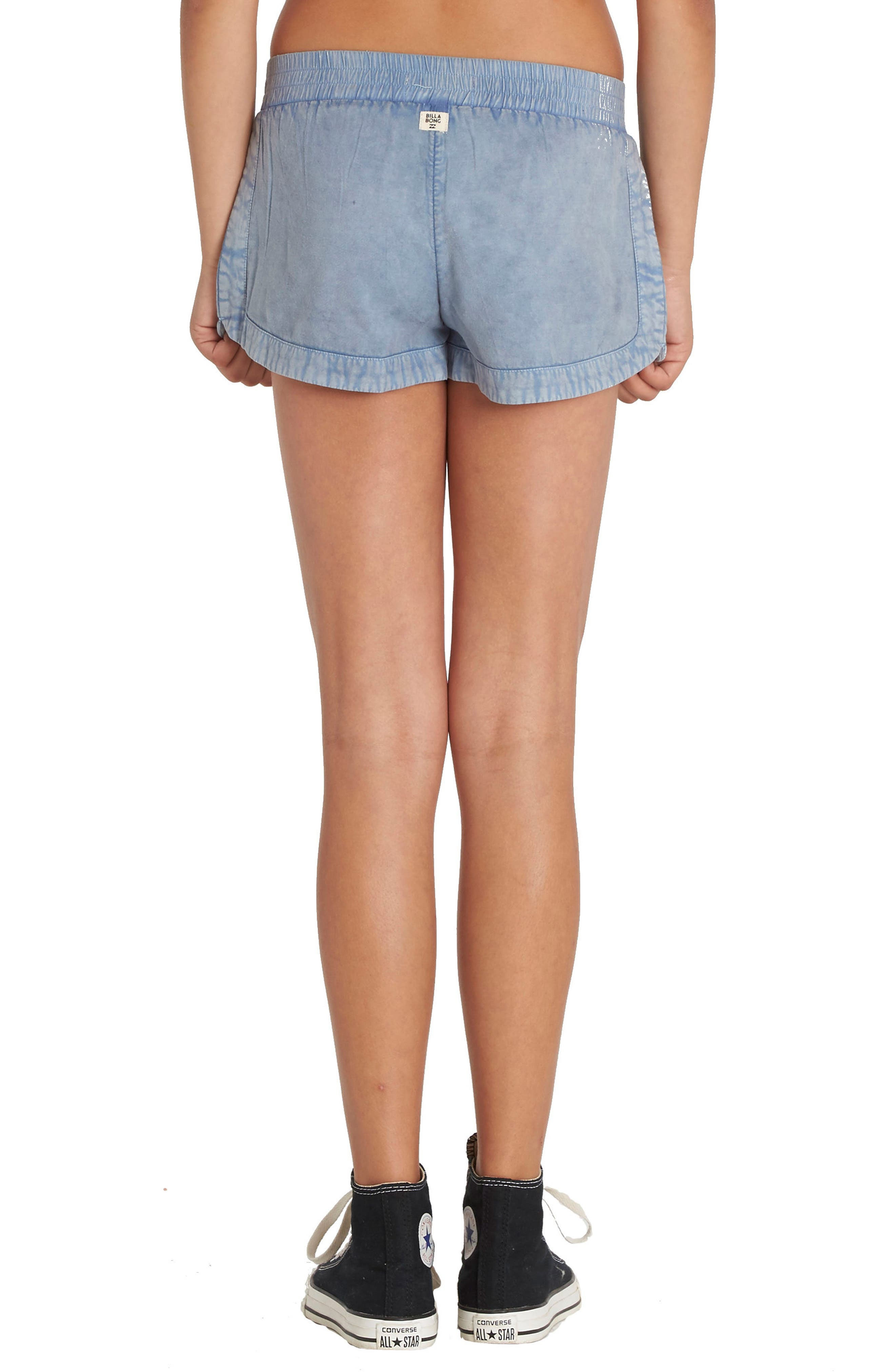 BILLABONG, Made For You Woven Shorts, Alternate thumbnail 3, color, CHAMBRAY