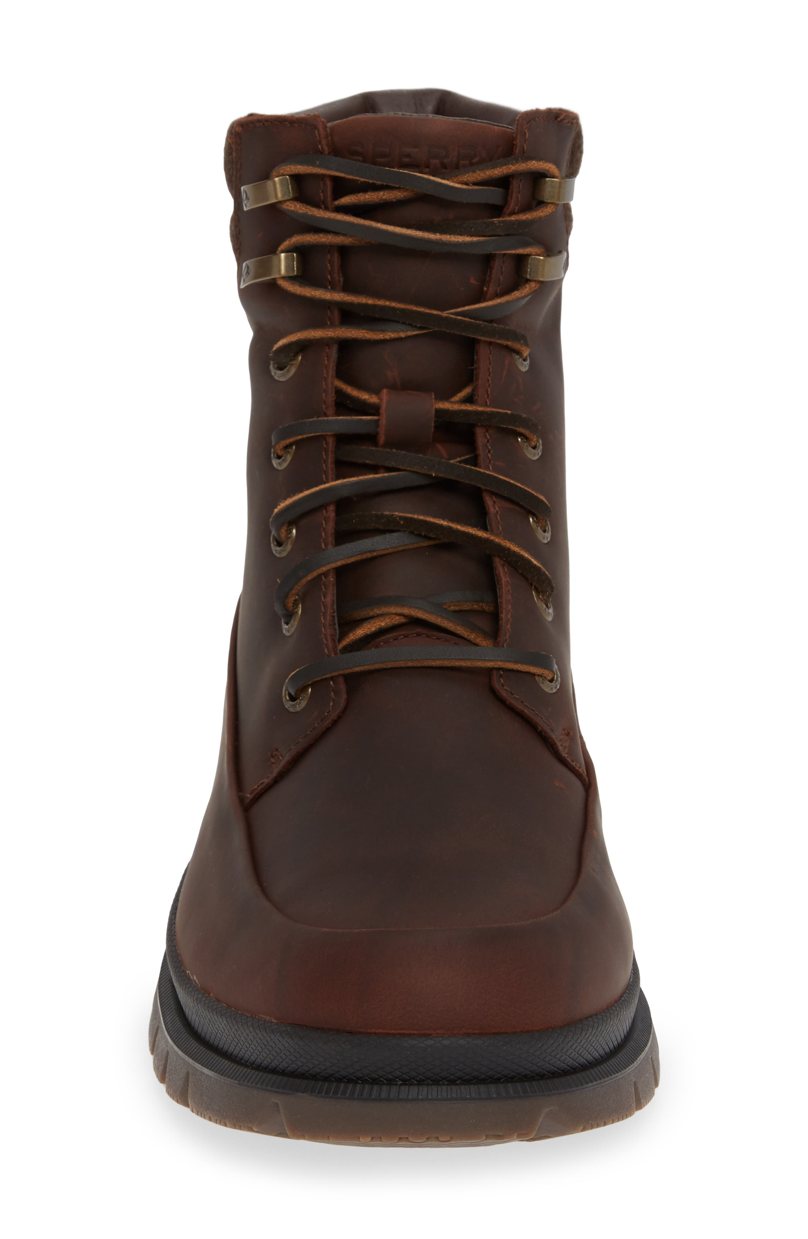 SPERRY, Watertown Waterproof Moc Toe Boot, Alternate thumbnail 4, color, BROWN