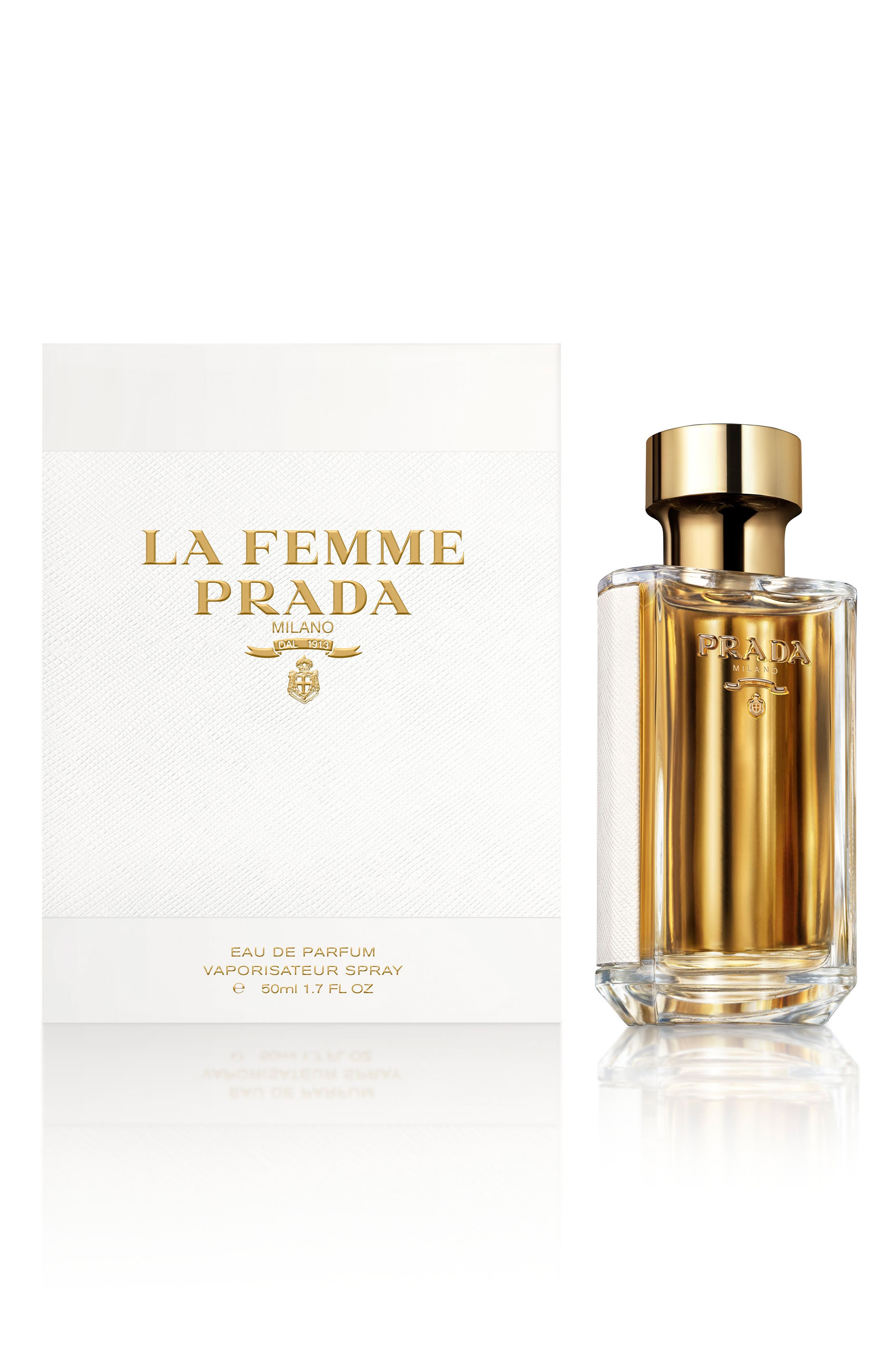 PRADA, La Femme Prada Eau de Parfum, Alternate thumbnail 2, color, NO COLOR