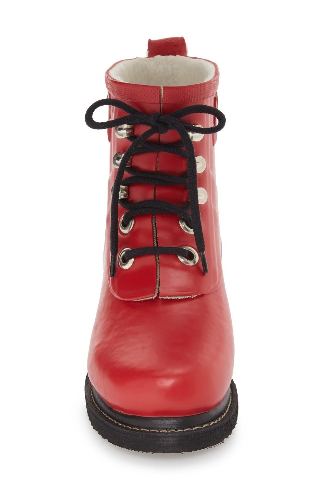 ILSE JACOBSEN, 'Rub' Boot, Alternate thumbnail 3, color, DEEP RED