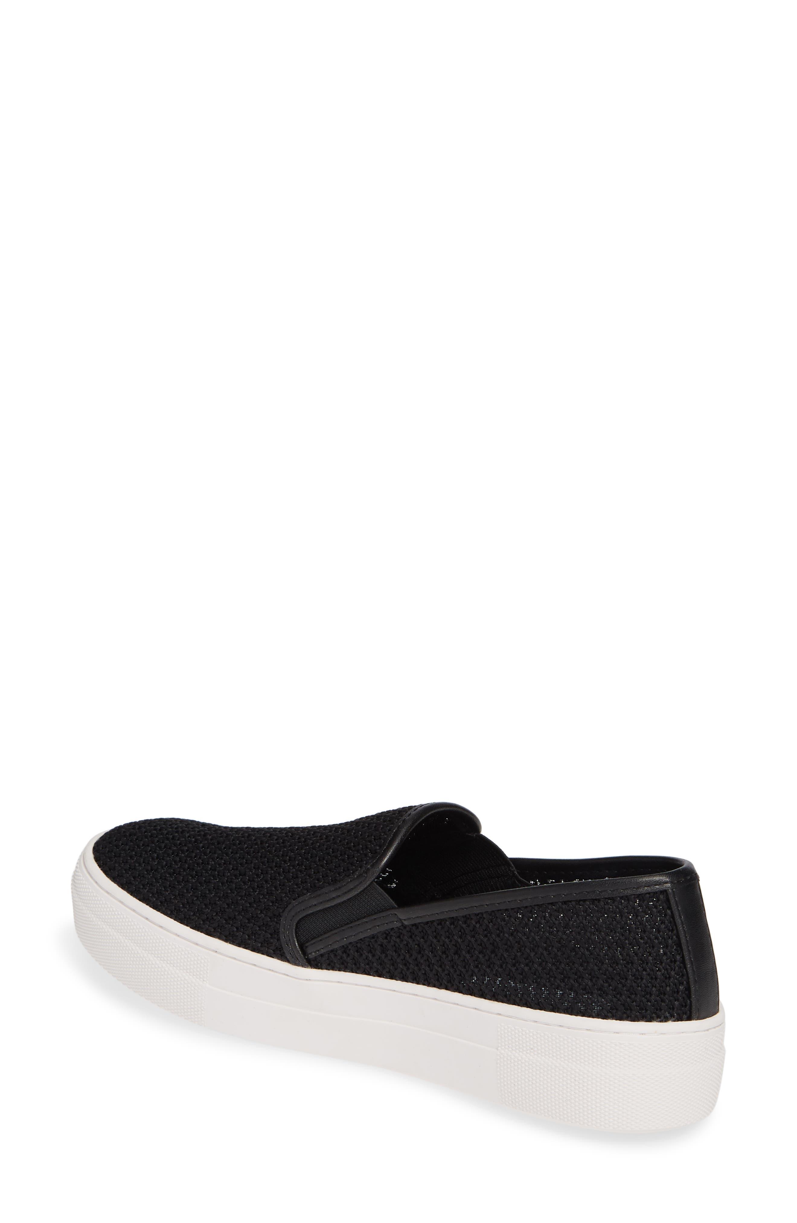 STEVE MADDEN, Gills-M Mesh Slip-On Sneaker, Alternate thumbnail 2, color, BLACK