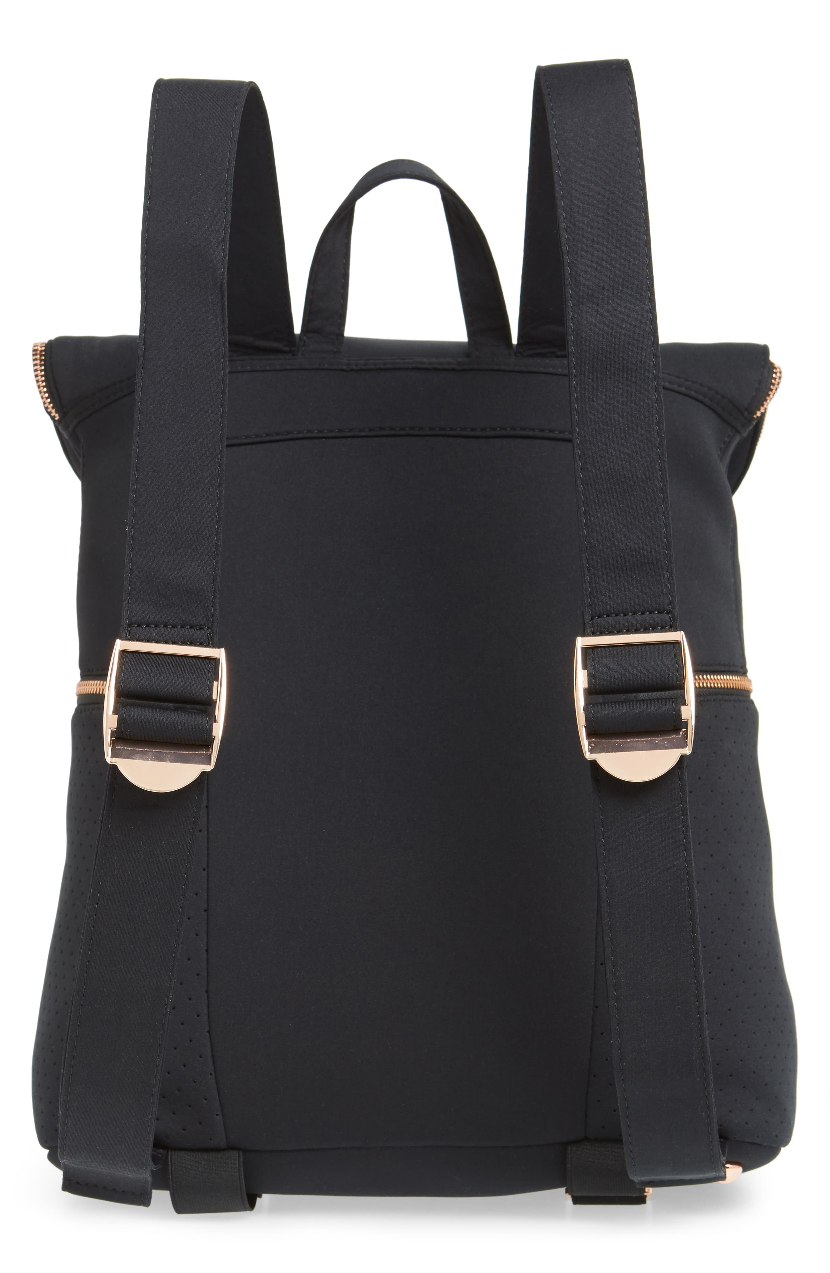SWEATY BETTY, All Sport Backpack, Alternate thumbnail 3, color, BLACK