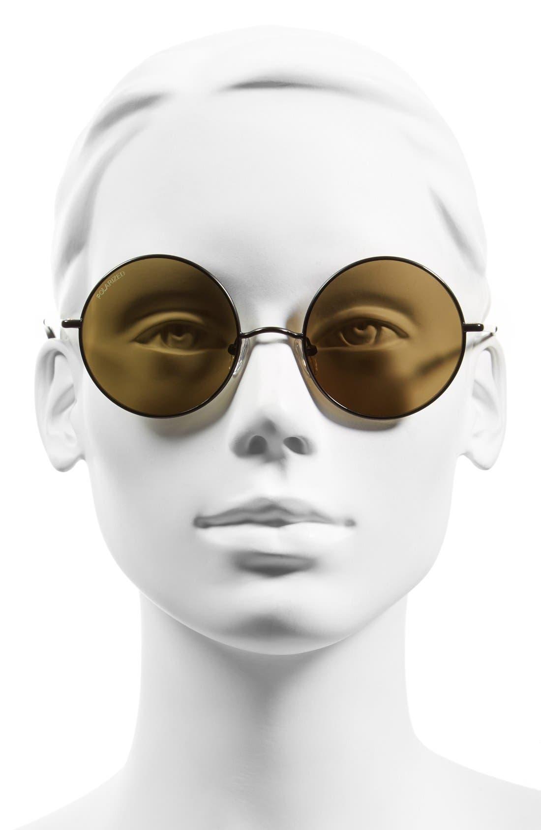 ELIZABETH AND JAMES, 'Mott' 52mm Round Sunglasses, Alternate thumbnail 2, color, 001