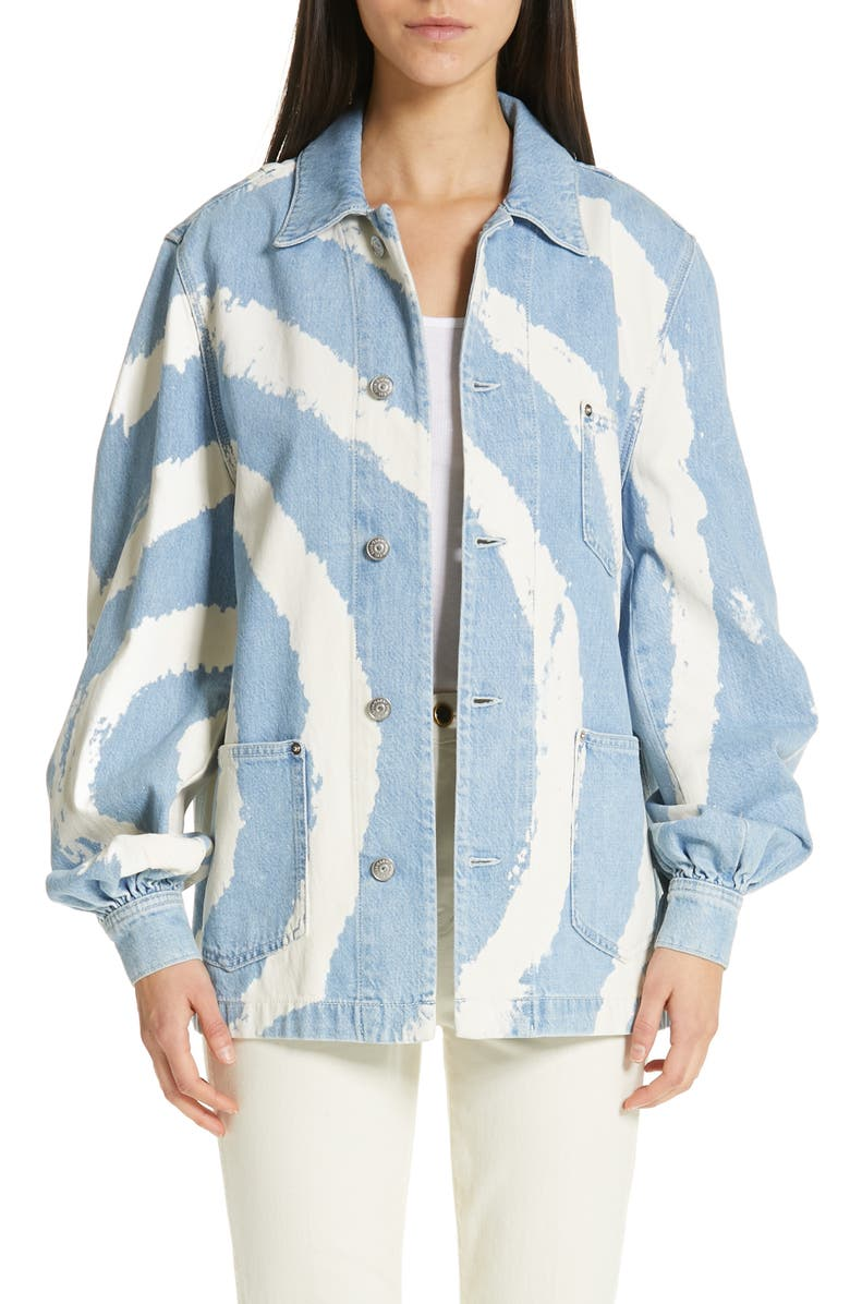 Ganni Jackets OVERSIZED DENIM JACKET
