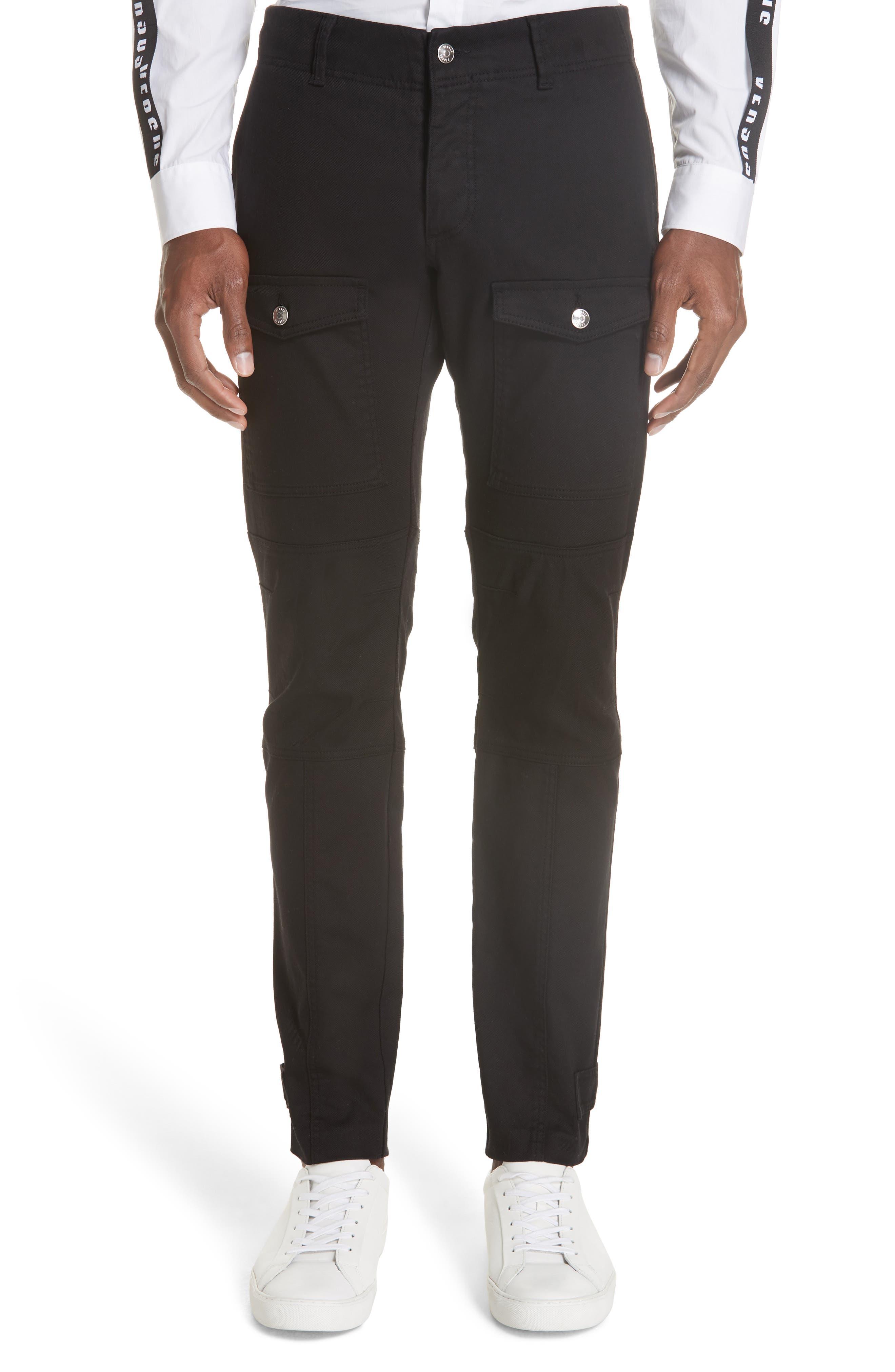 Versus Versace Denim Cargo Pants, Black