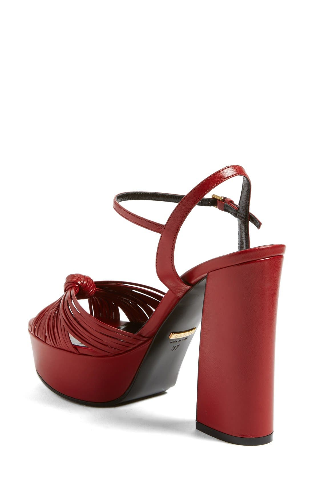 GUCCI, 'Allie' Platform Peep Toe Sandal, Alternate thumbnail 2, color, 600