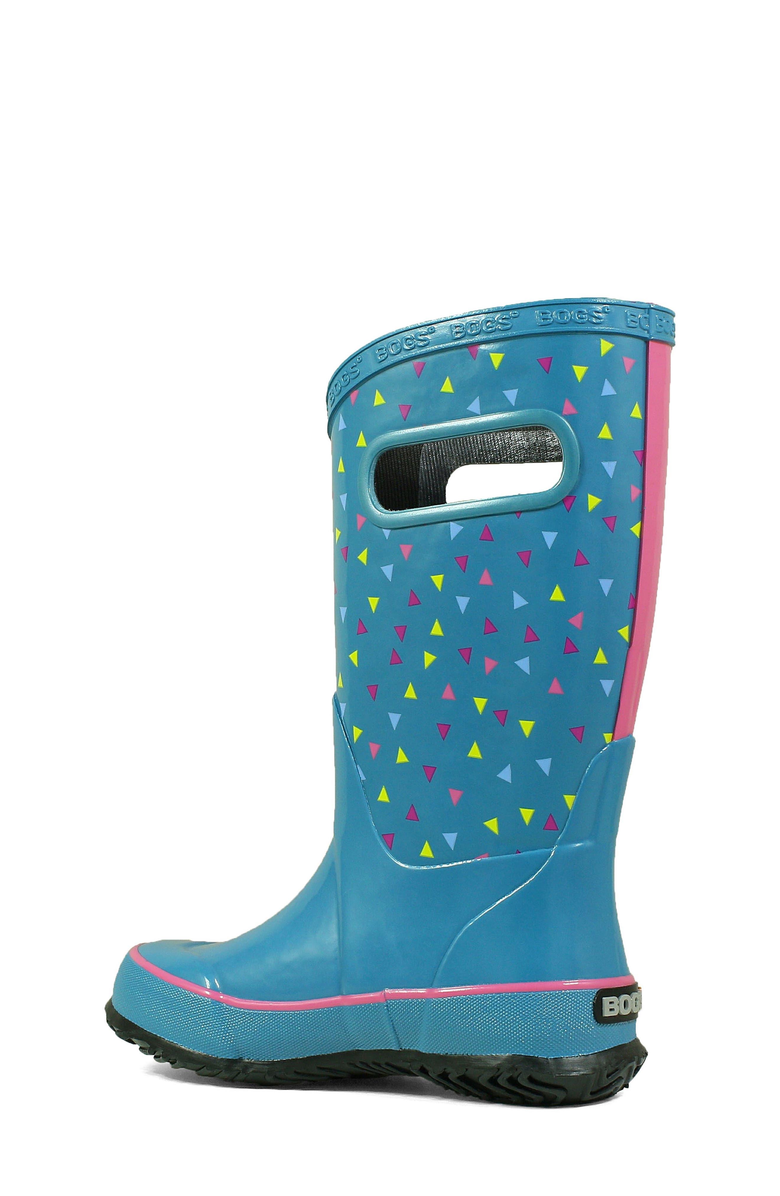 BOGS, Dots Waterproof Rain Boot, Alternate thumbnail 2, color, DARK BLUE MULTI