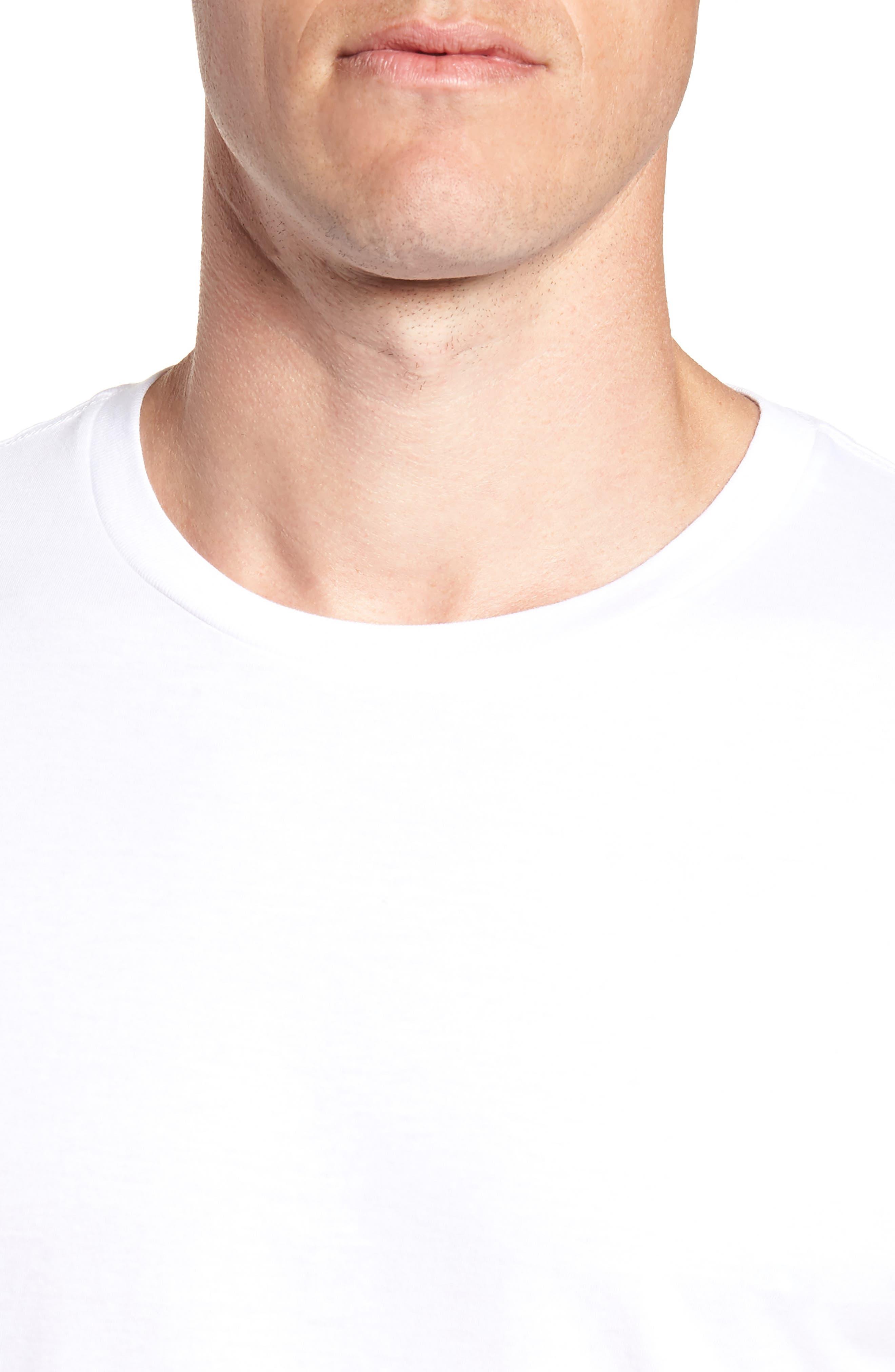 POLO RALPH LAUREN, 2-Pack Crewneck T-Shirts, Alternate thumbnail 5, color, WHITE