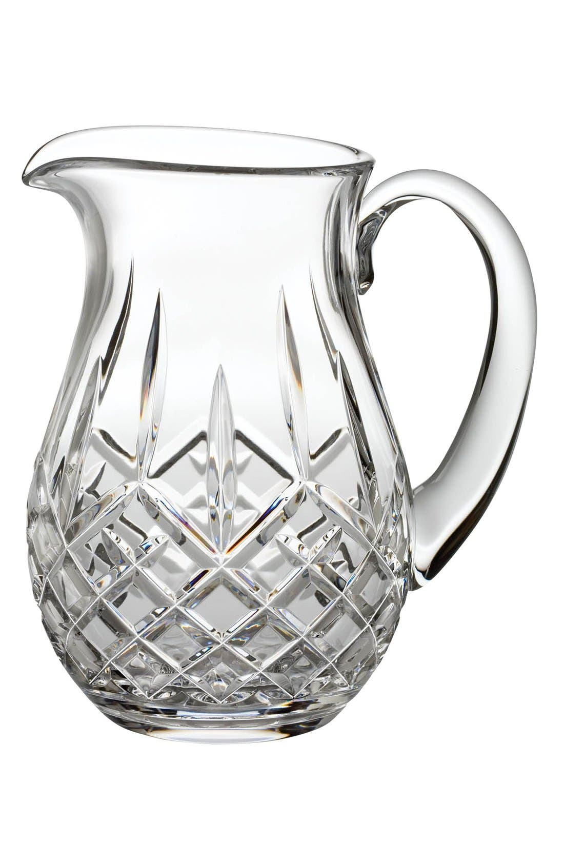 WATERFORD, 'Lismore' Lead Crystal Pitcher, Main thumbnail 1, color, CLEAR