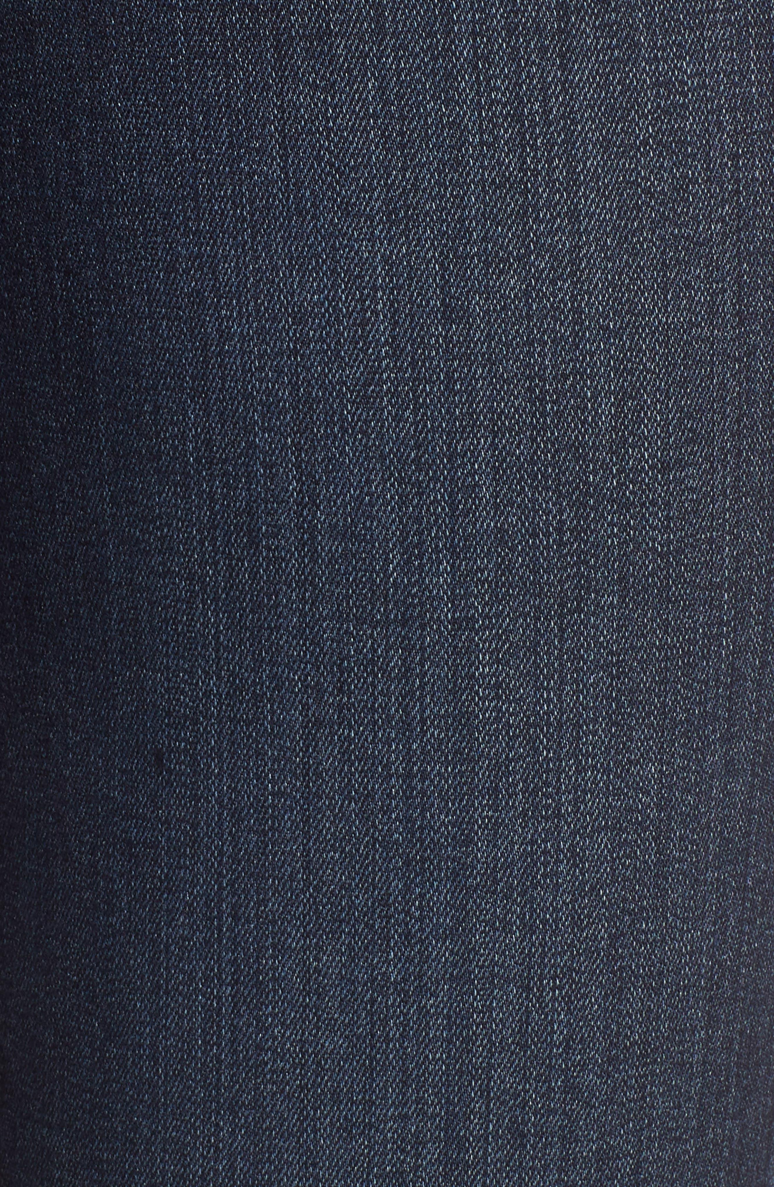 PAIGE, Manhattan High Waist Bootcut Jeans, Alternate thumbnail 6, color, ROSEVILLE