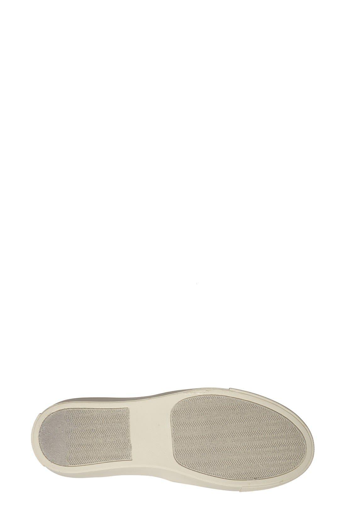 STEVE MADDEN, Ecentrcq Sneaker, Alternate thumbnail 4, color, BLACK FAUX LEATHER