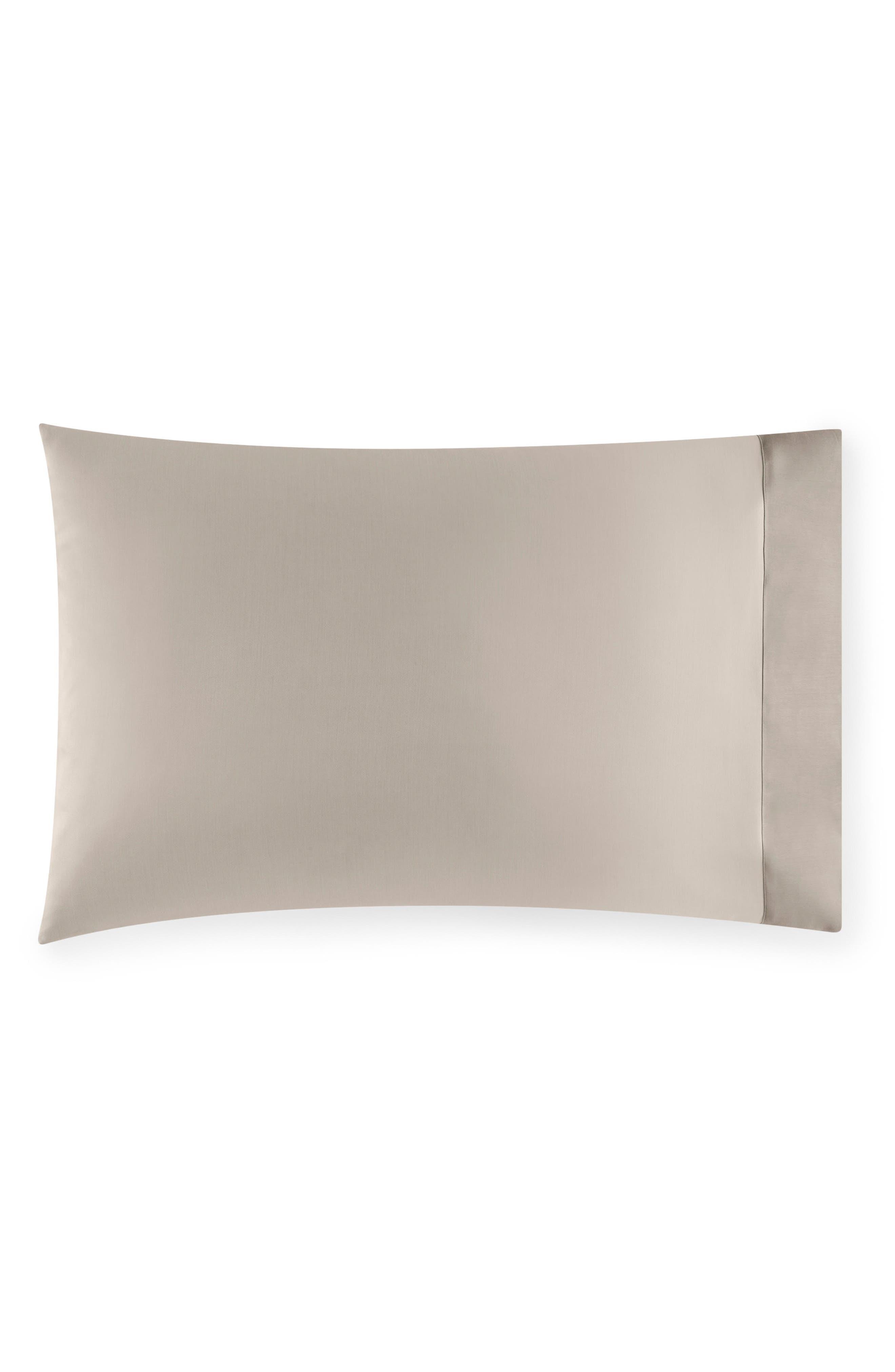 SFERRA Larro Pillowcase, Main, color, NOUGAT