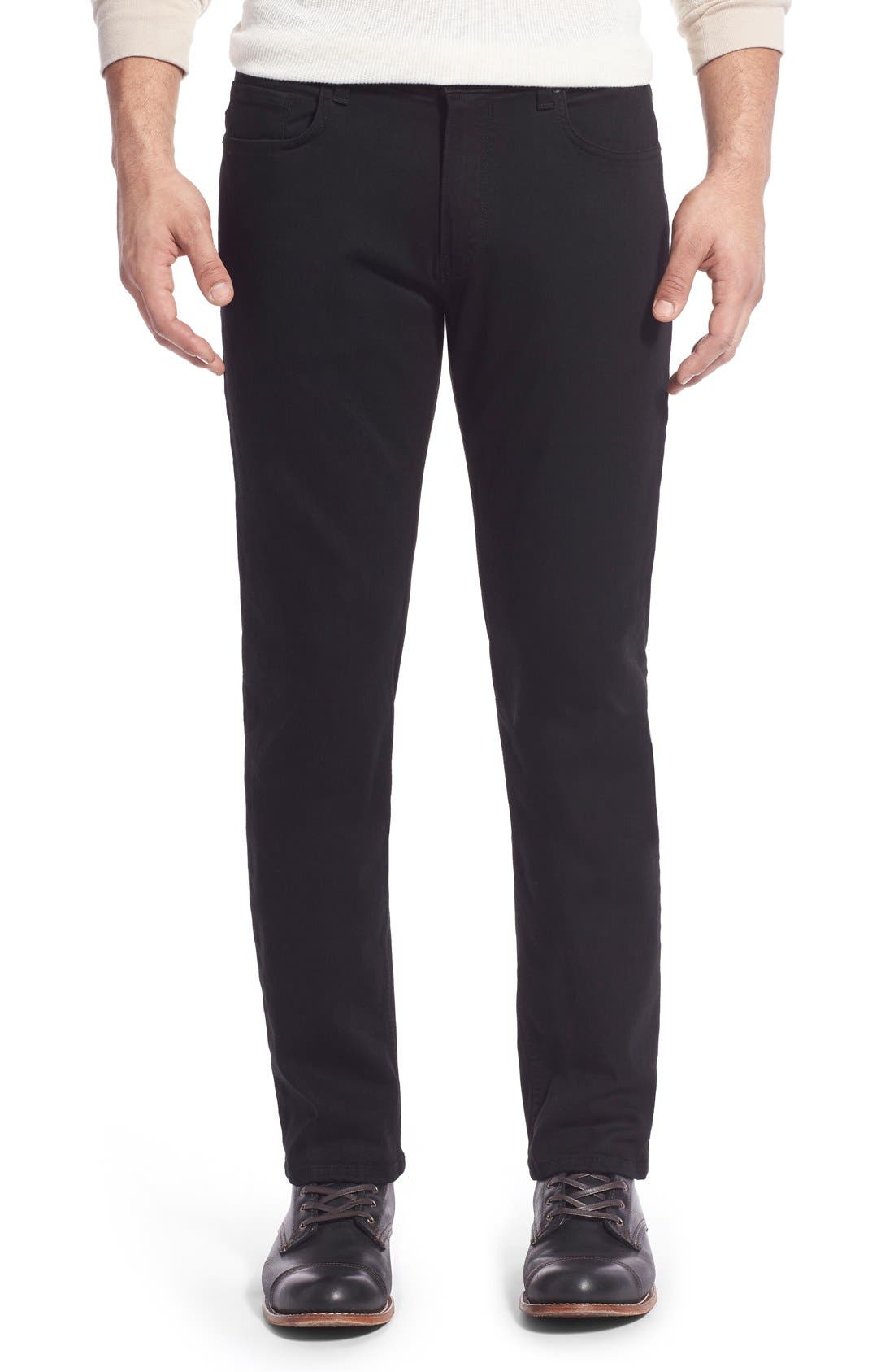 PAIGE Transcend - Normandie Straight Fit Jeans, Main, color, BLACK SHADOW