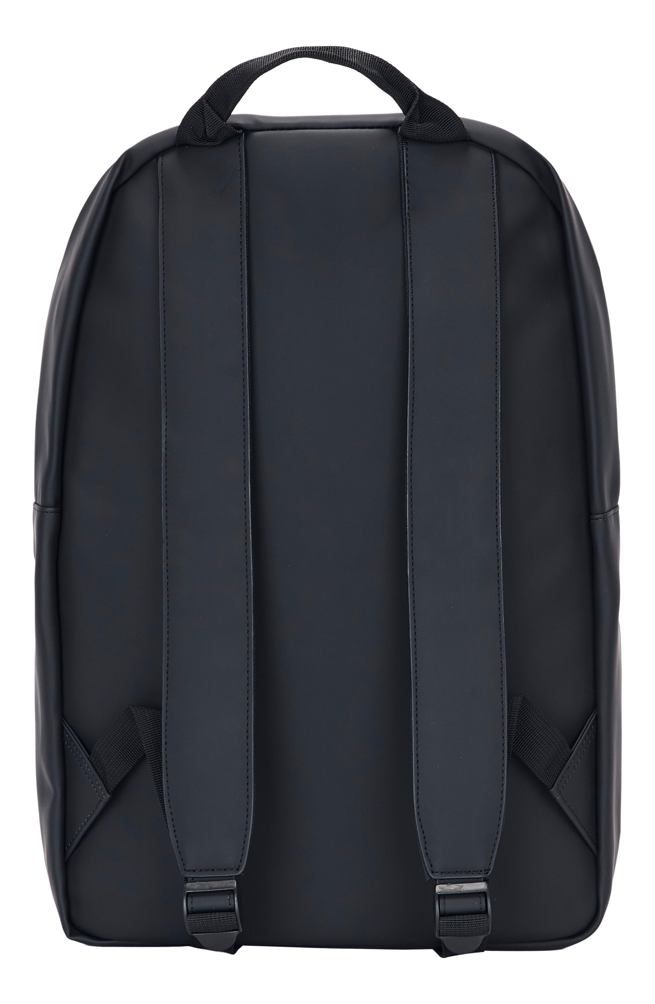 RAINS, Field Backpack, Alternate thumbnail 4, color, BLACK