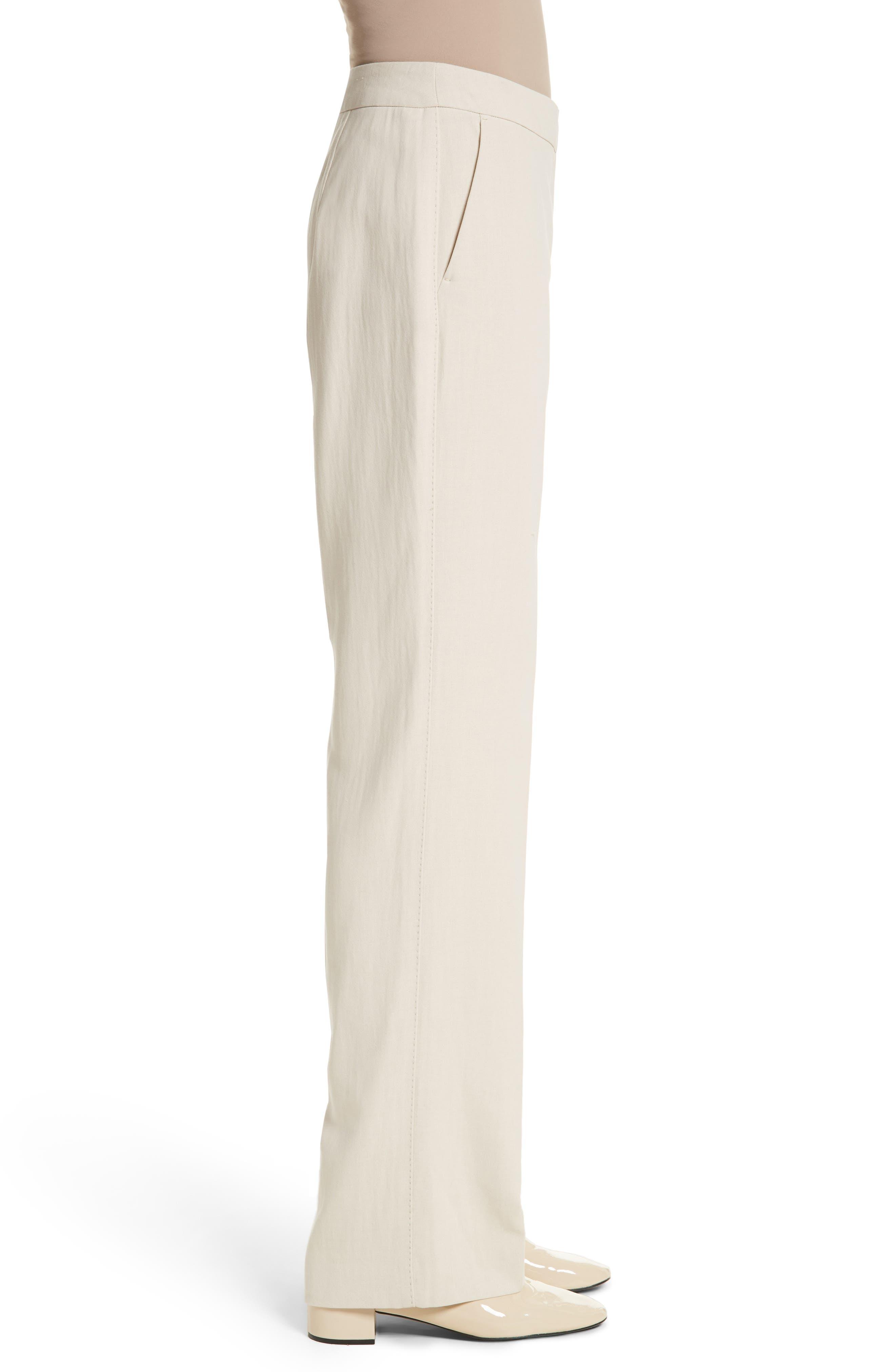 MAX MARA, Cursore Cotton Wide Leg Pants, Alternate thumbnail 3, color, 900