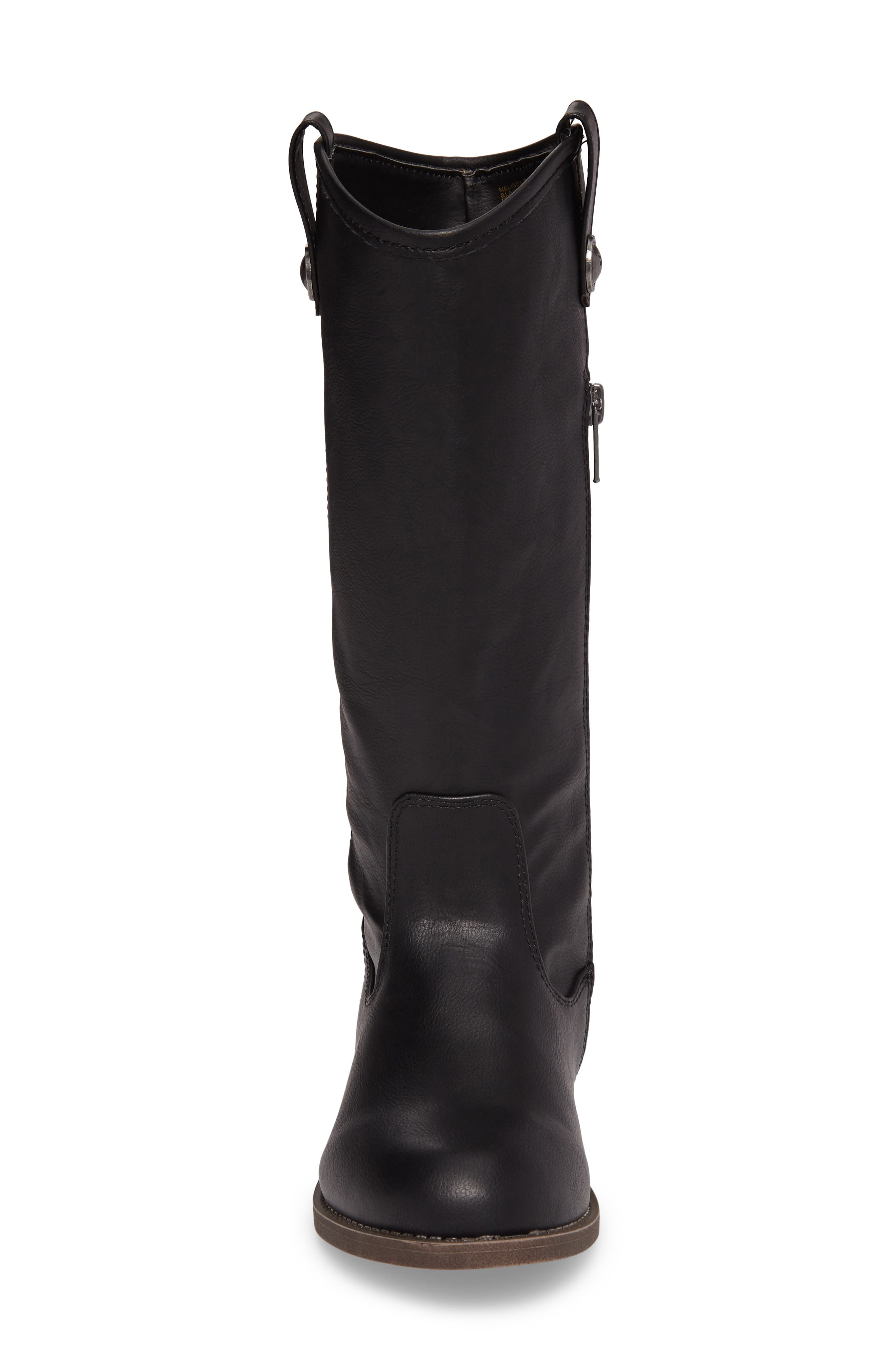 FRYE, Melissa Button Riding Boot, Alternate thumbnail 4, color, 001