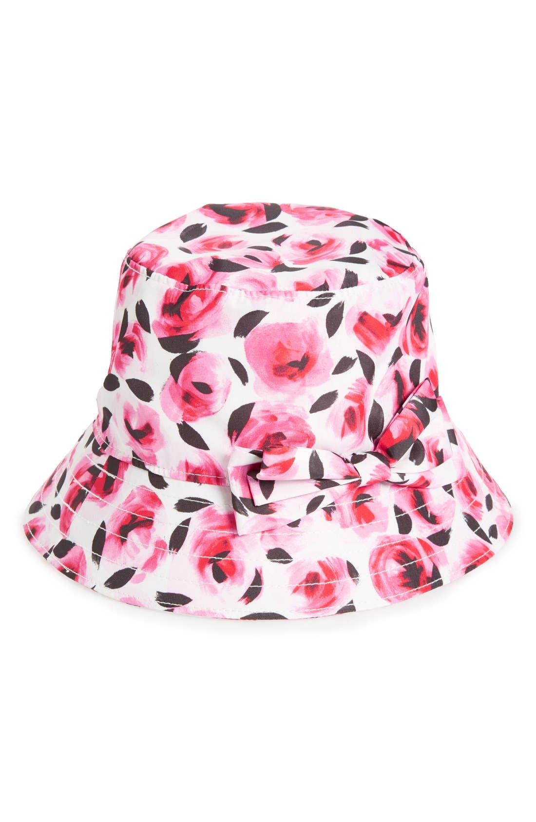 KATE SPADE NEW YORK rain bucket hat, Main, color, 650