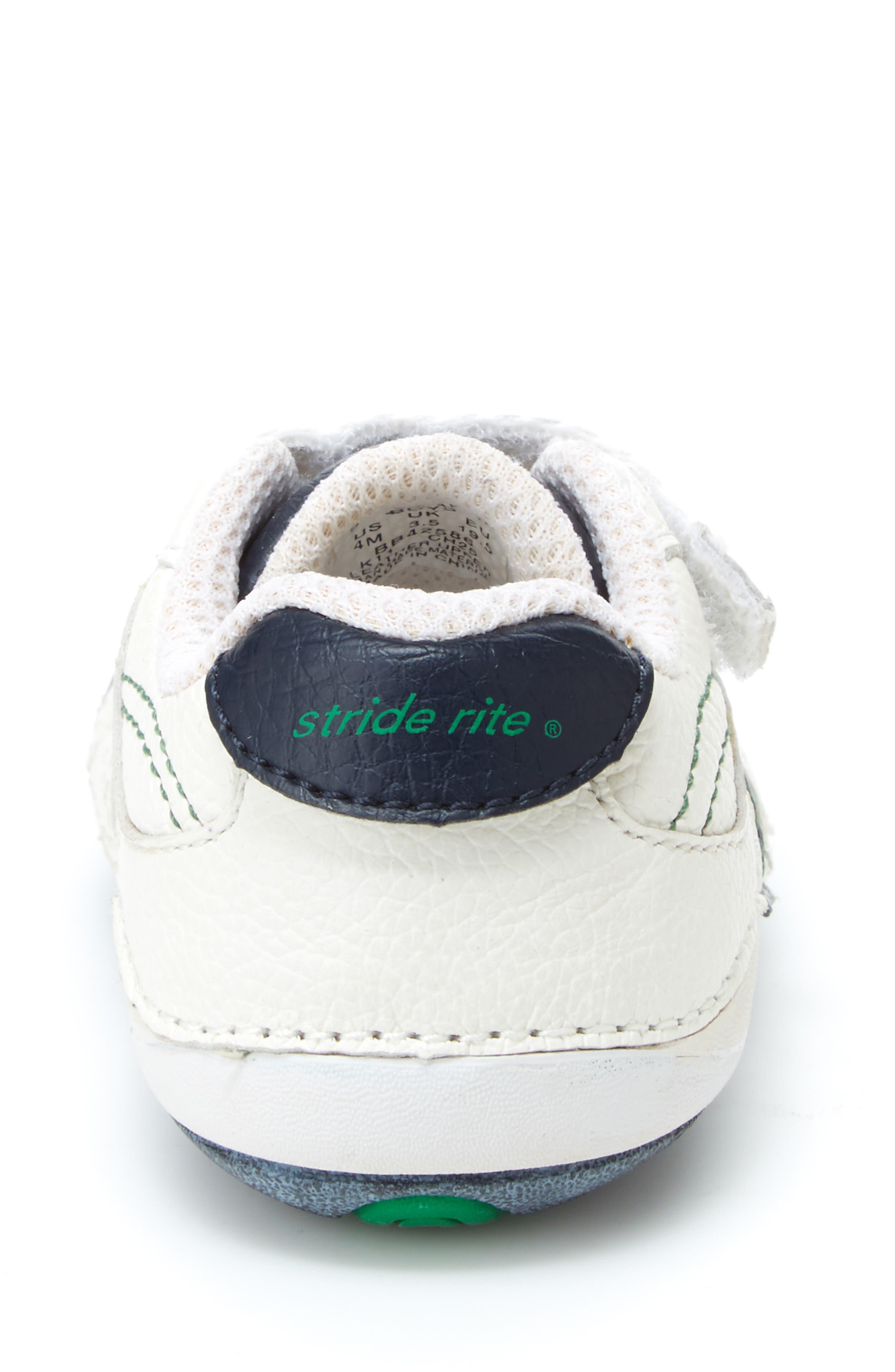 STRIDE RITE, 'Arte' Sneaker, Alternate thumbnail 7, color, WHITE/ NAVY