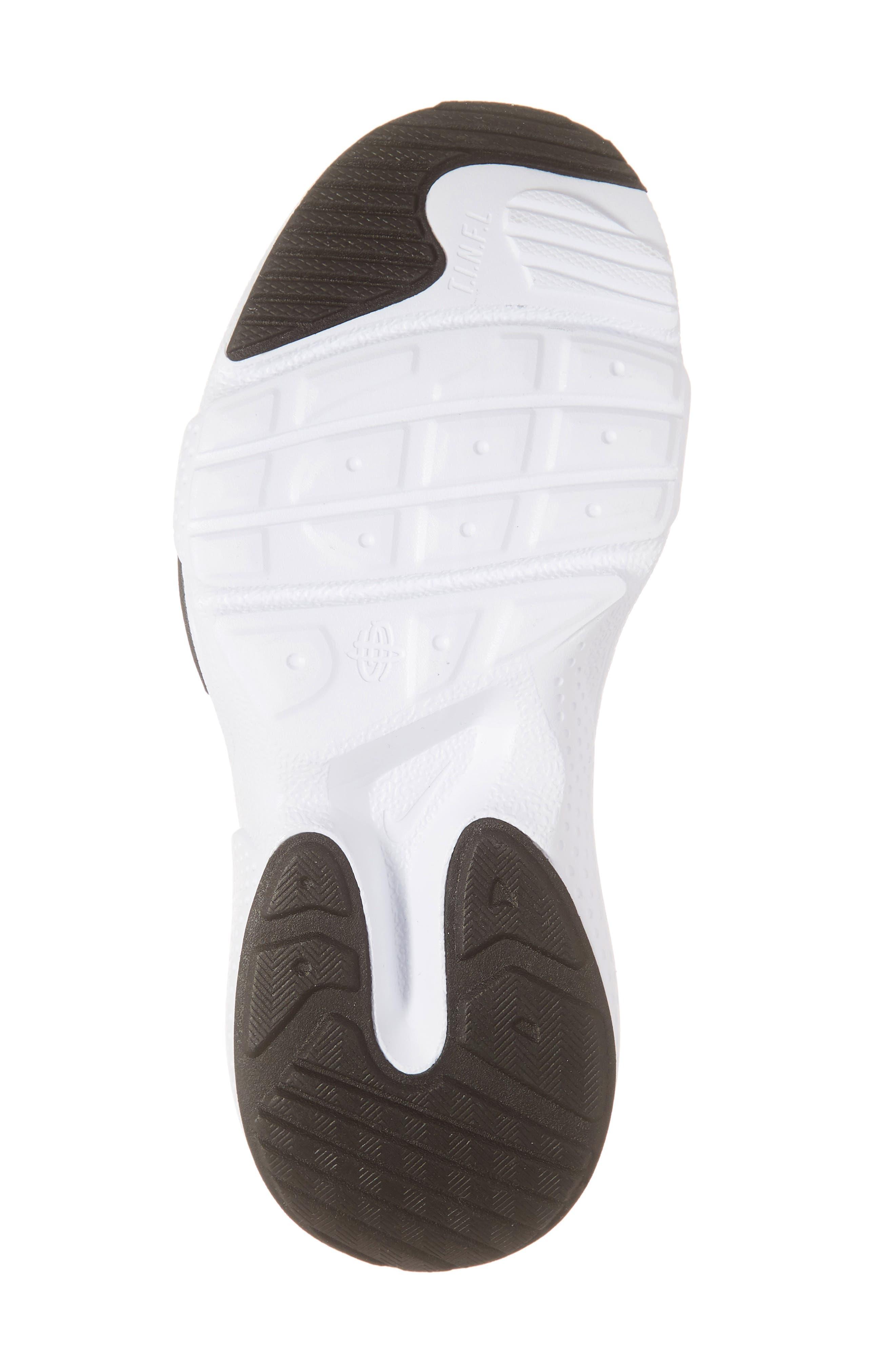 NIKE, Huarache E.D.G.E. Sneaker, Alternate thumbnail 6, color, BLACK/ WHITE