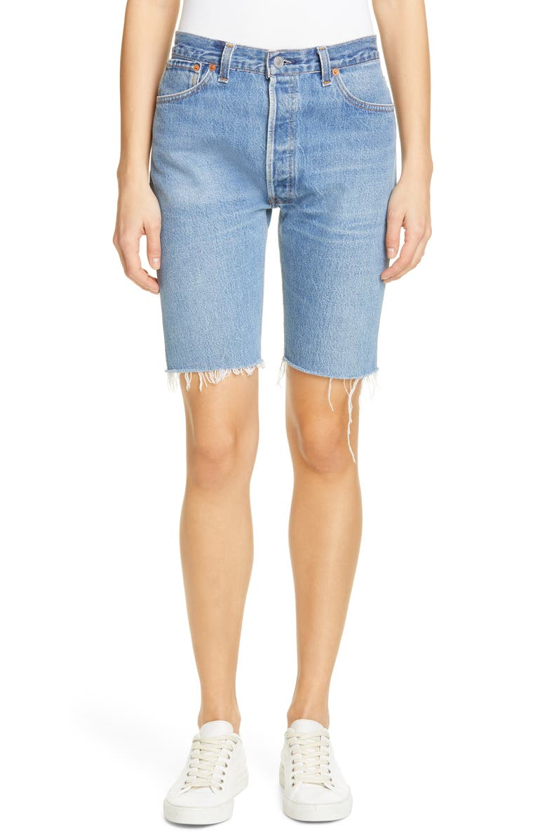 Re/done Shorts THE LONG REPURPOSED DENIM SHORTS