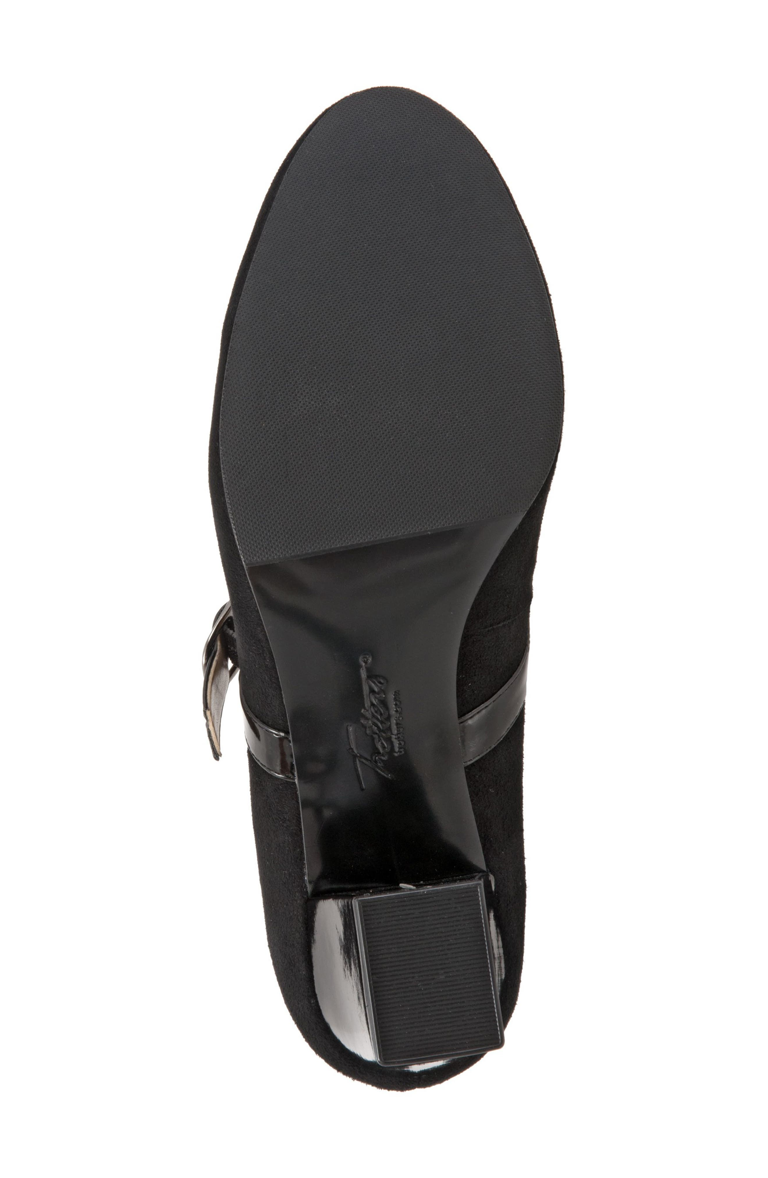 TROTTERS, 'Candice' Mary Jane Pump, Alternate thumbnail 5, color, BLACK SUEDE