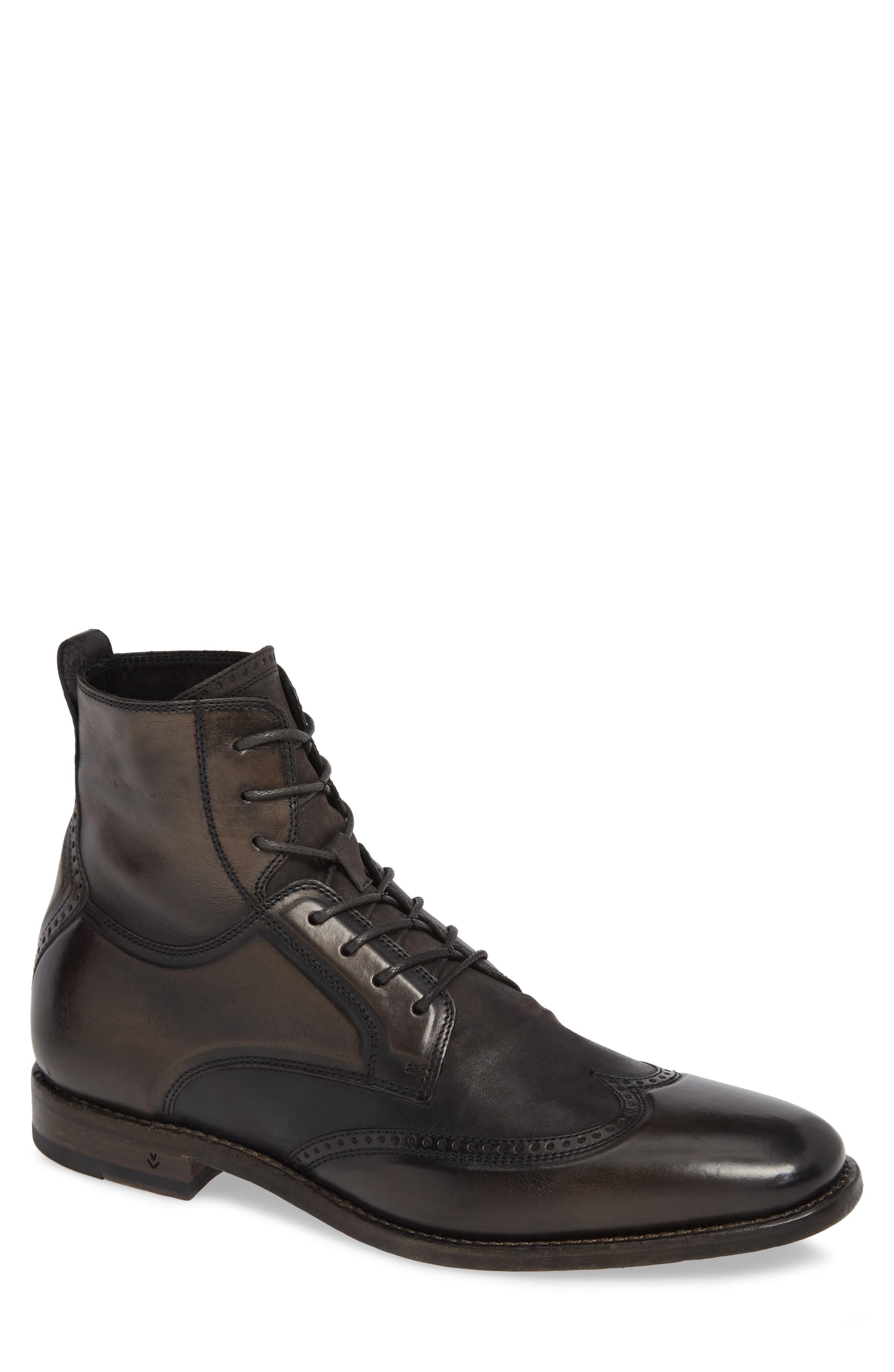 John Varvatos Collection Irving Wingtip Boot- Grey