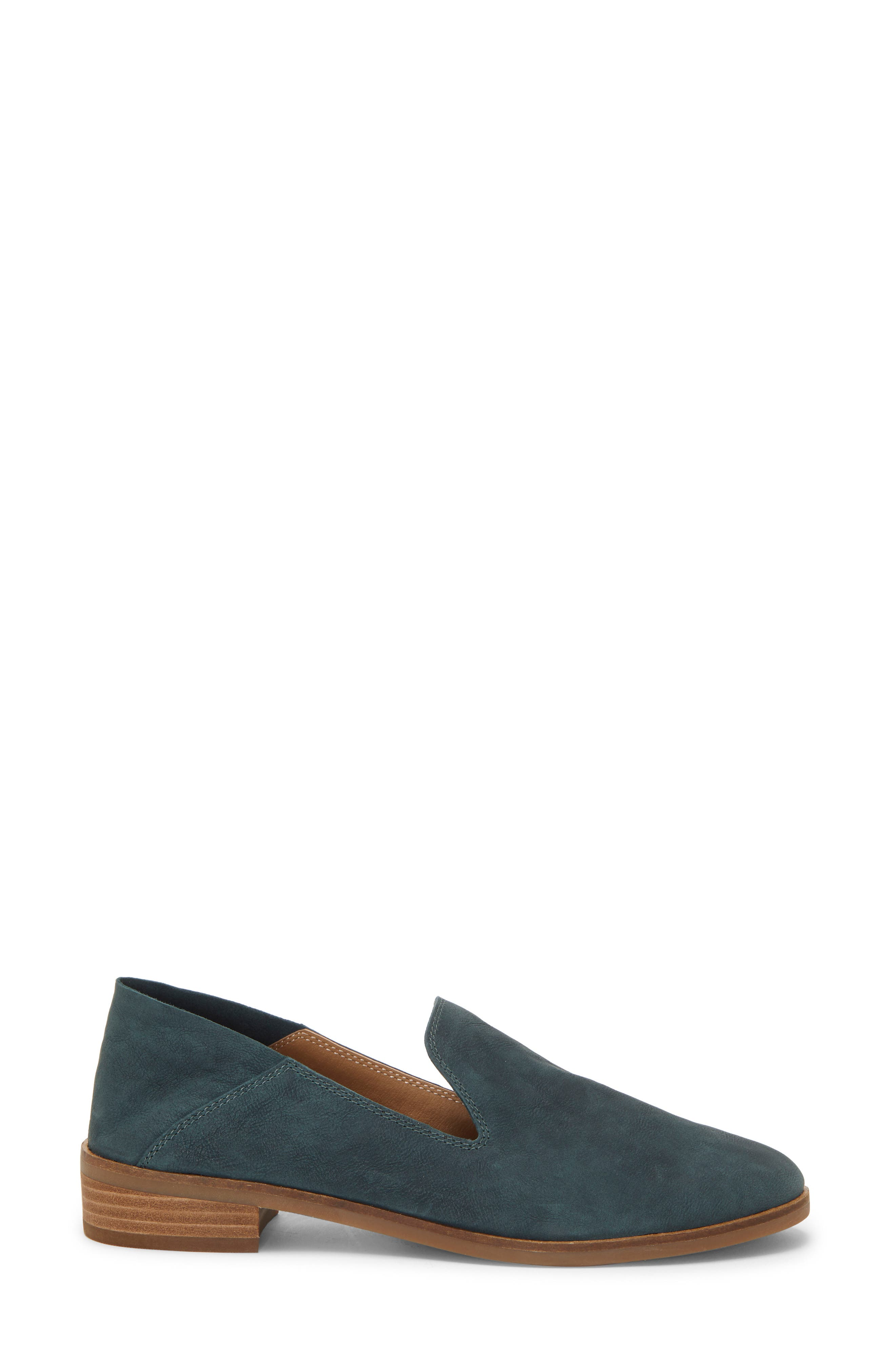 LUCKY BRAND, Cahill Flat, Alternate thumbnail 4, color, KELP LEATHER