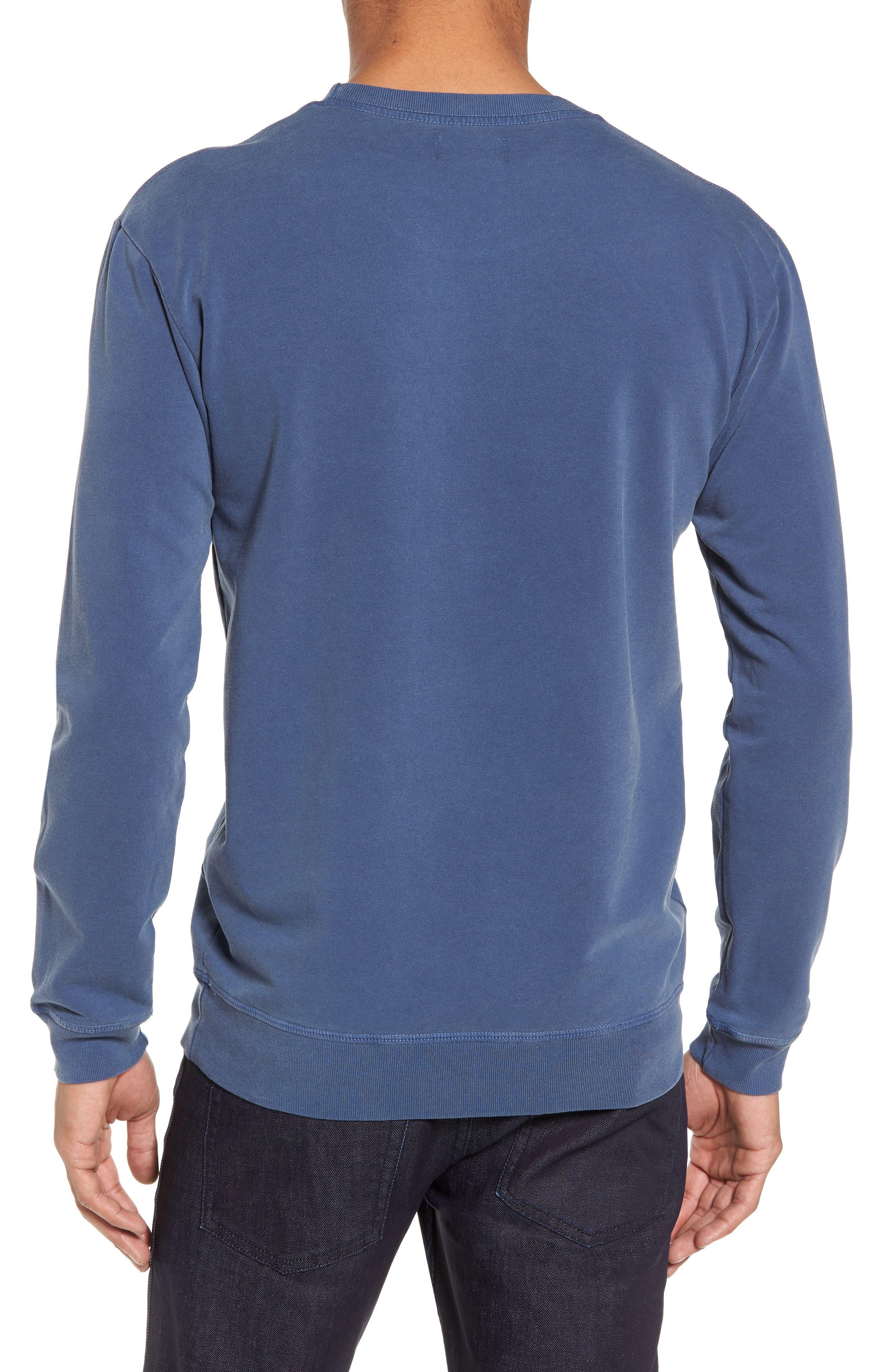 GOODLIFE, Slim Fit Crewneck Sweatshirt, Alternate thumbnail 2, color, FADED NAVY