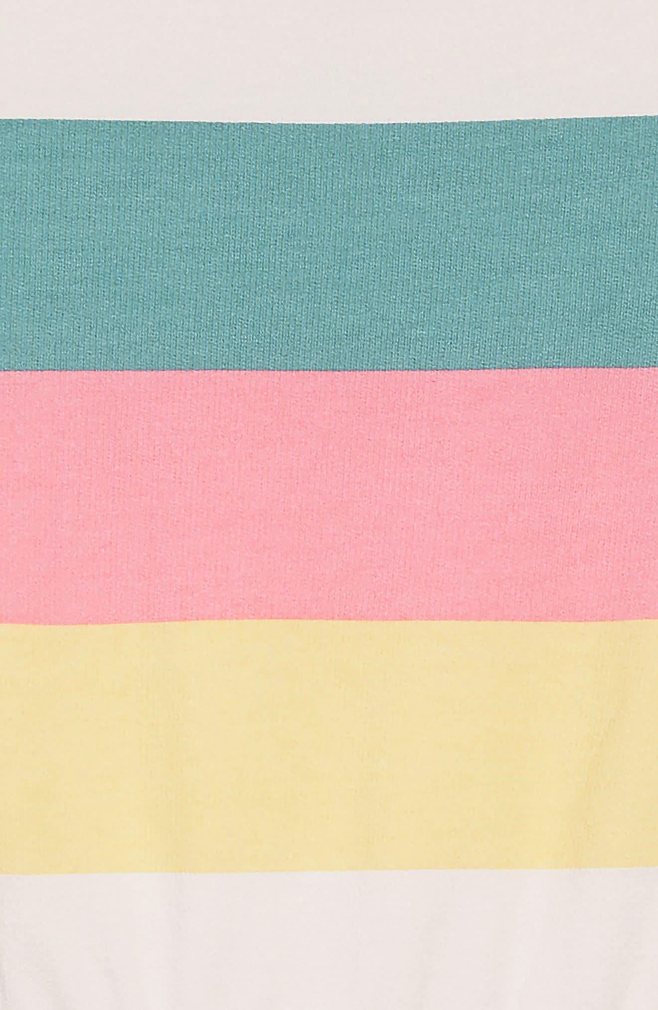 PEEK AREN'T YOU CURIOUS, Brynn Stripe Sweatshirt Dress, Alternate thumbnail 3, color, 650