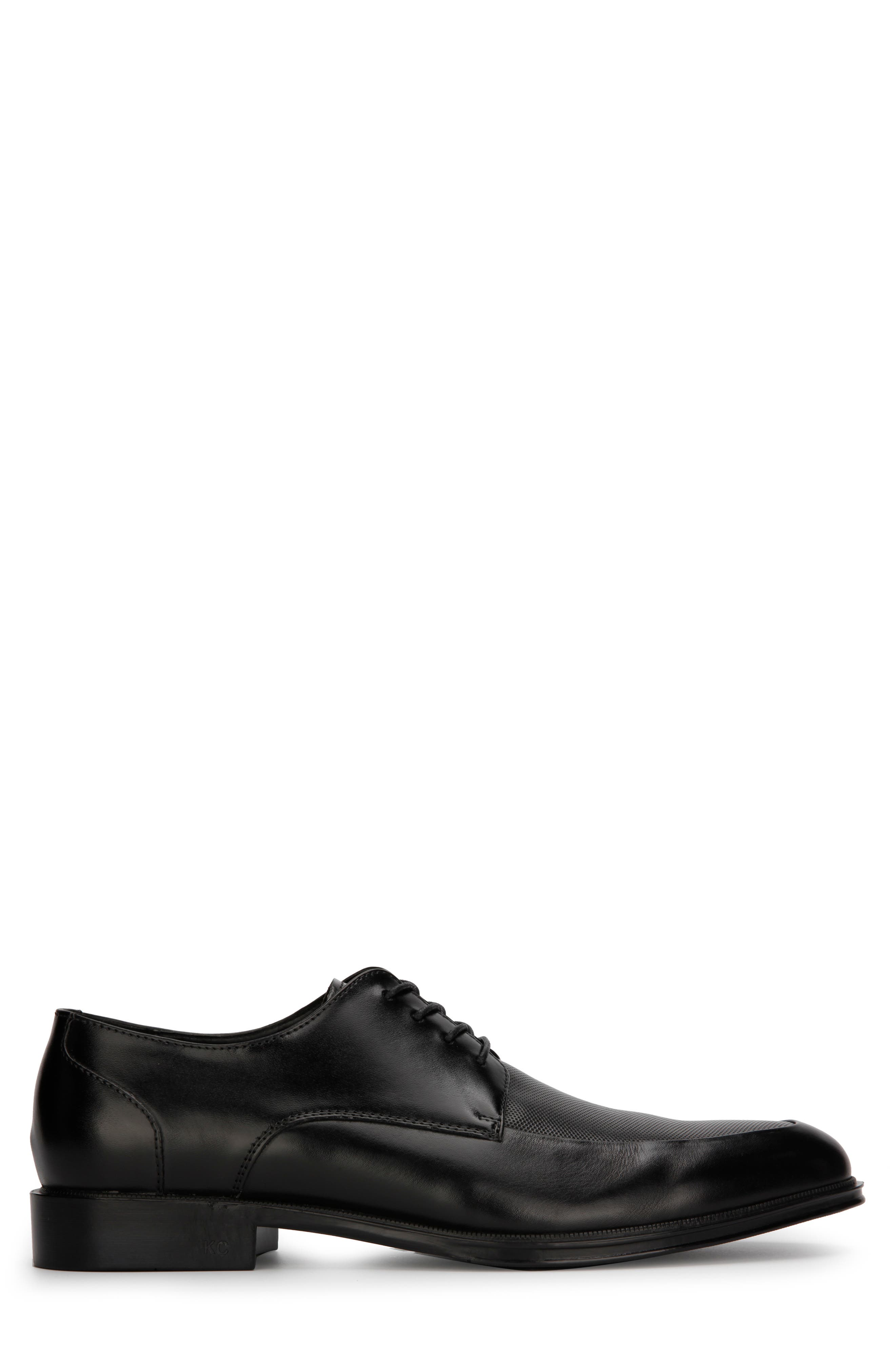 REACTION KENNETH COLE, Zac Moc Toe Derby, Alternate thumbnail 2, color, BLACK