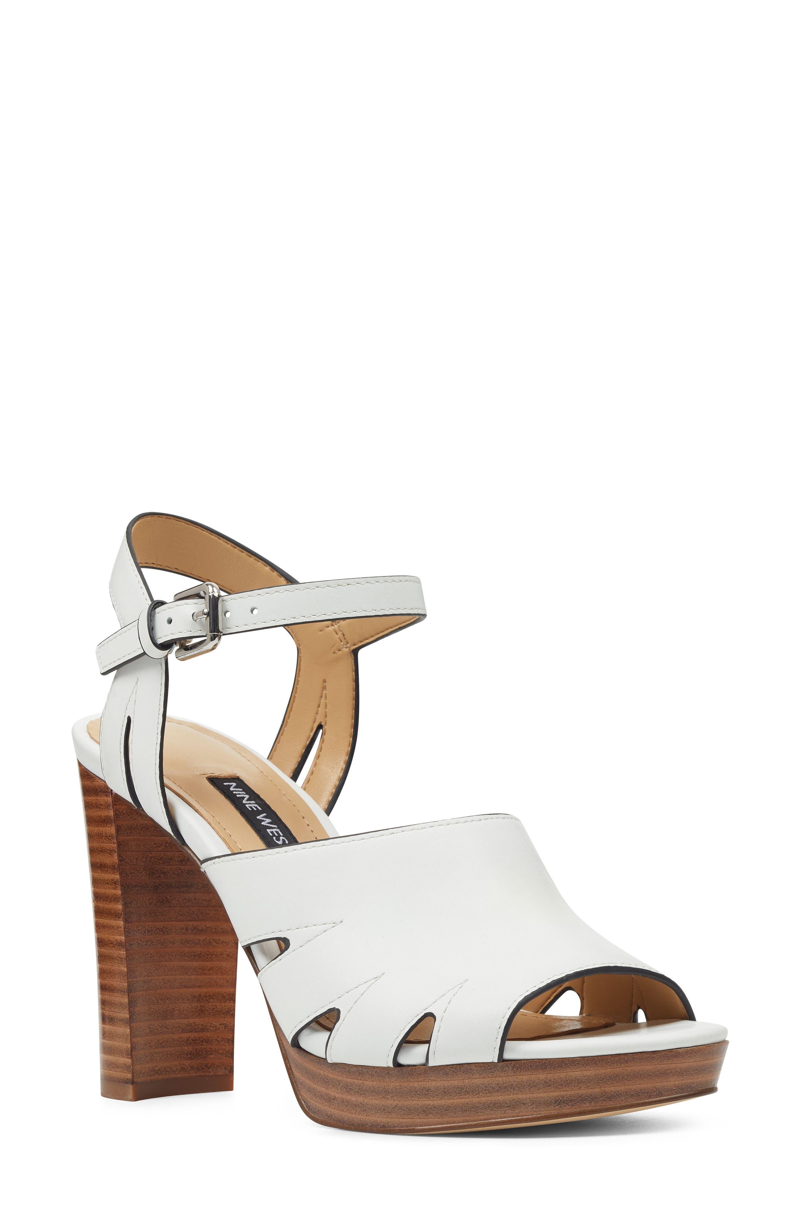 Nine West Delilah Cutout Sandal- White