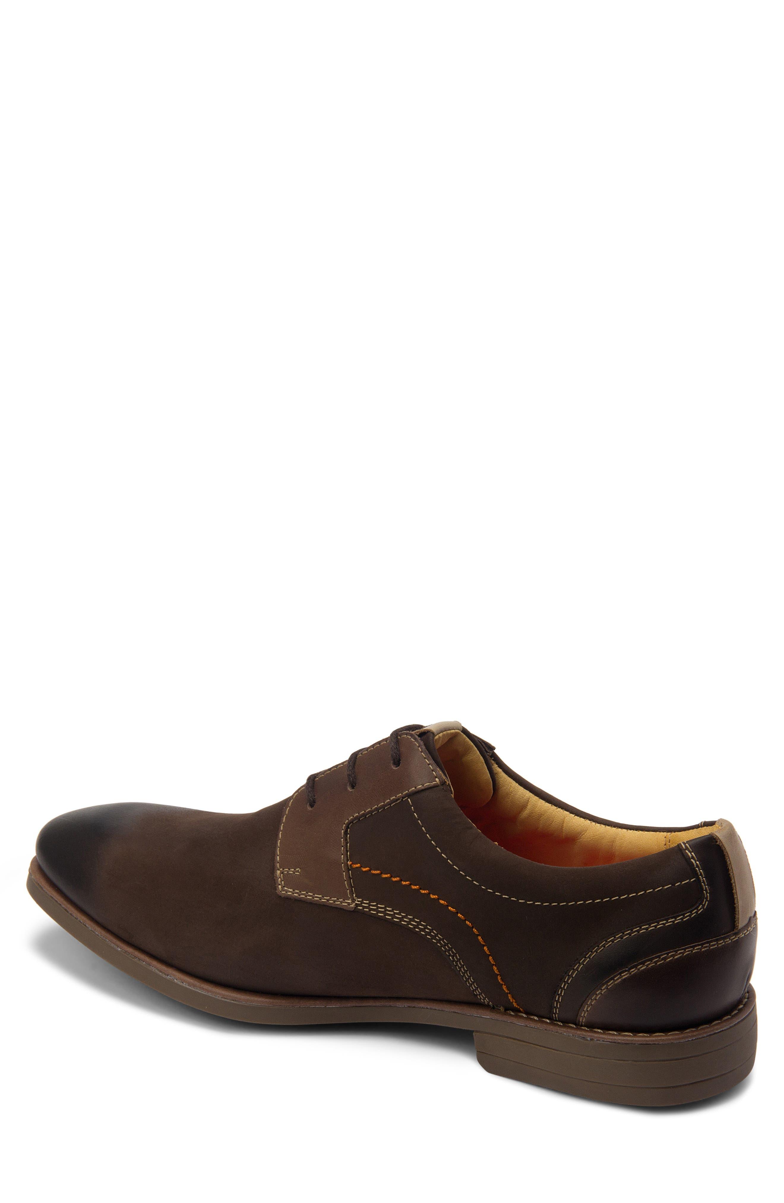 SANDRO MOSCOLONI, Mantel Plain Toe Derby, Alternate thumbnail 2, color, BROWN LEATHER