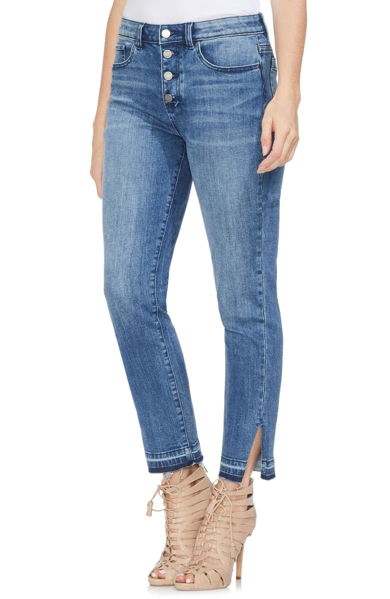 Vince Camuto Jeans HIGH WAIST BUTTON FLY SKINNY ANKLE JEANS