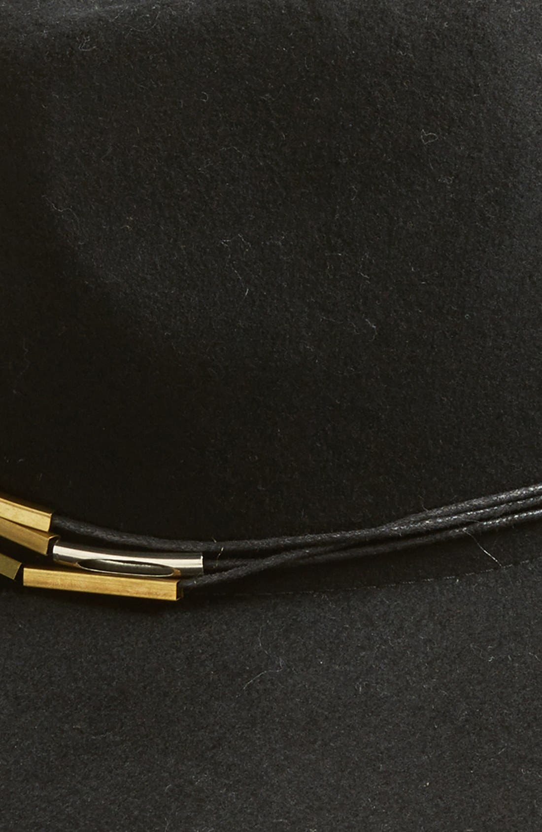 BP., Metal Bead Wool Felt Panama Hat, Alternate thumbnail 4, color, 001