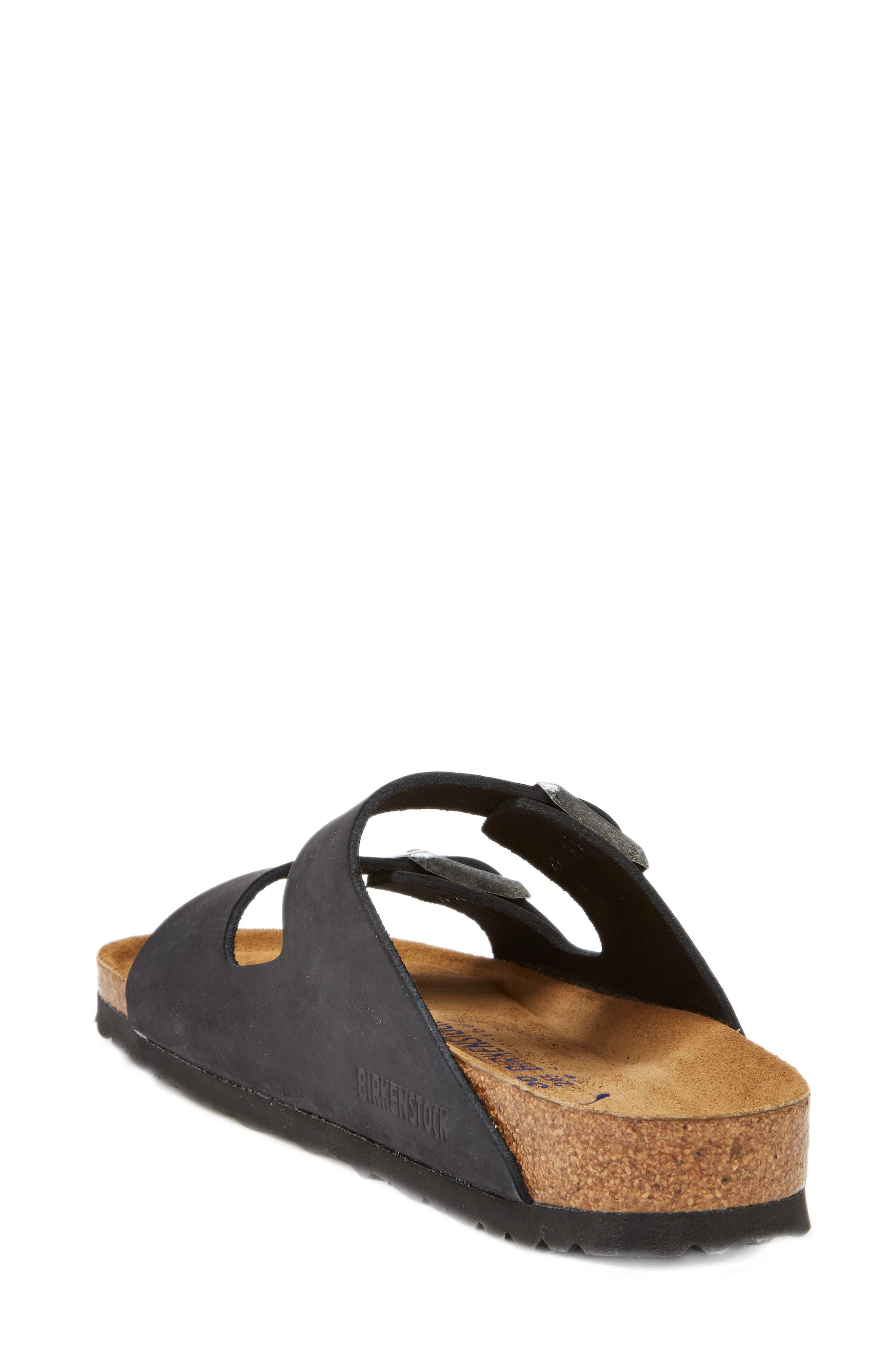 BIRKENSTOCK, Arizona Soft Footbed Sandal, Alternate thumbnail 2, color, BLACK/ BLACK