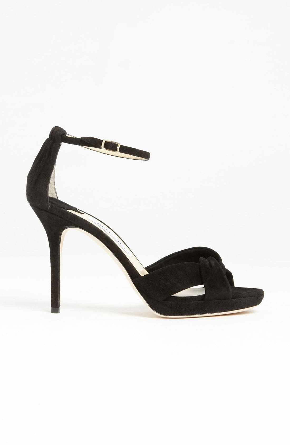 JIMMY CHOO, 'Marion' Sandal, Alternate thumbnail 2, color, 001