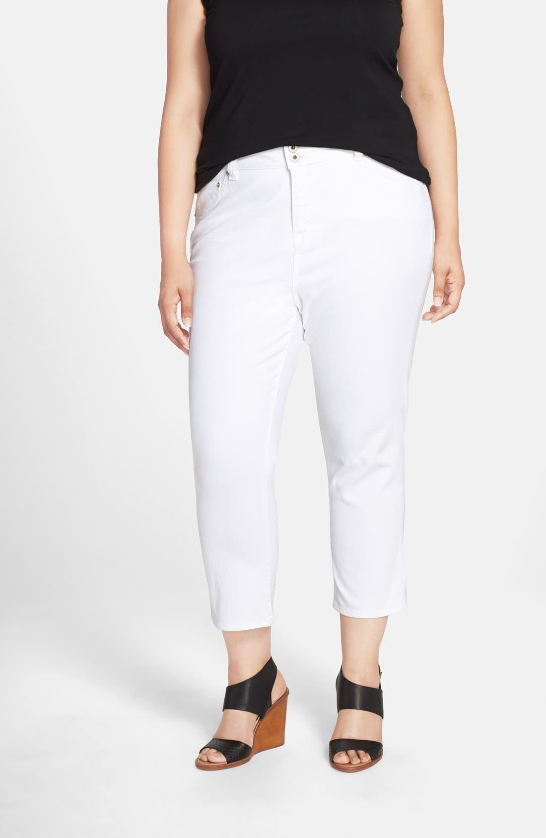 LUCKY BRAND 'Emma' Stretch Crop Jeans, Main, color, 110