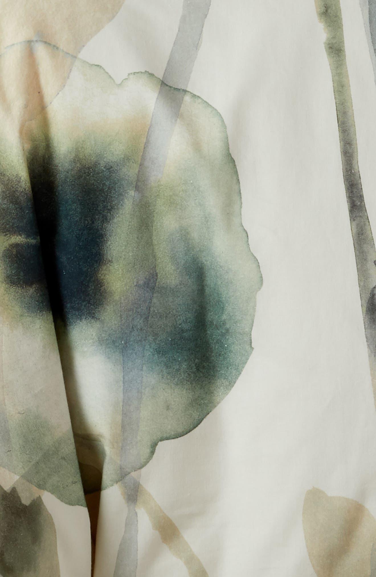 TREASURE & BOND, Floral Print Duvet Cover, Alternate thumbnail 2, color, WHITE WHISPER