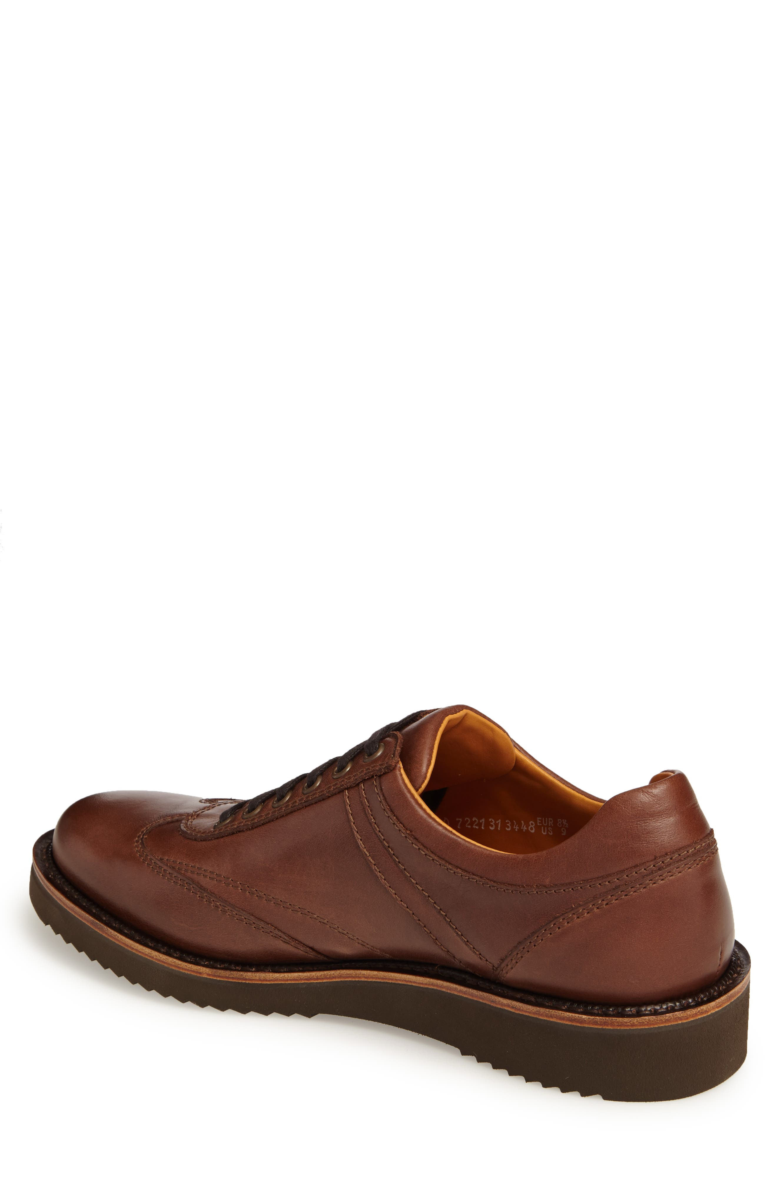 MEPHISTO, Adriano Sneaker, Alternate thumbnail 2, color, CHESTNUT LEATHER