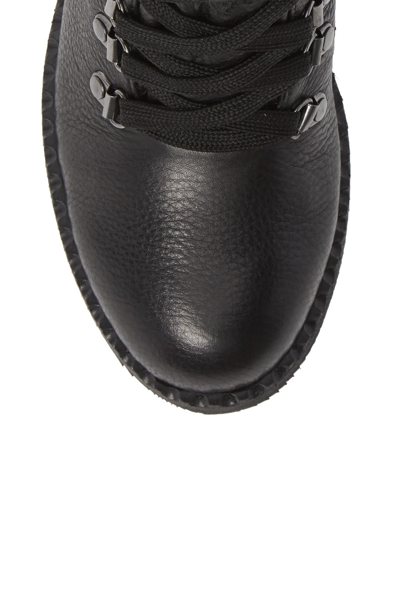 GENTLE SOULS BY KENNETH COLE, Brooklyn Combat Boot, Alternate thumbnail 5, color, BLACK LEATHER