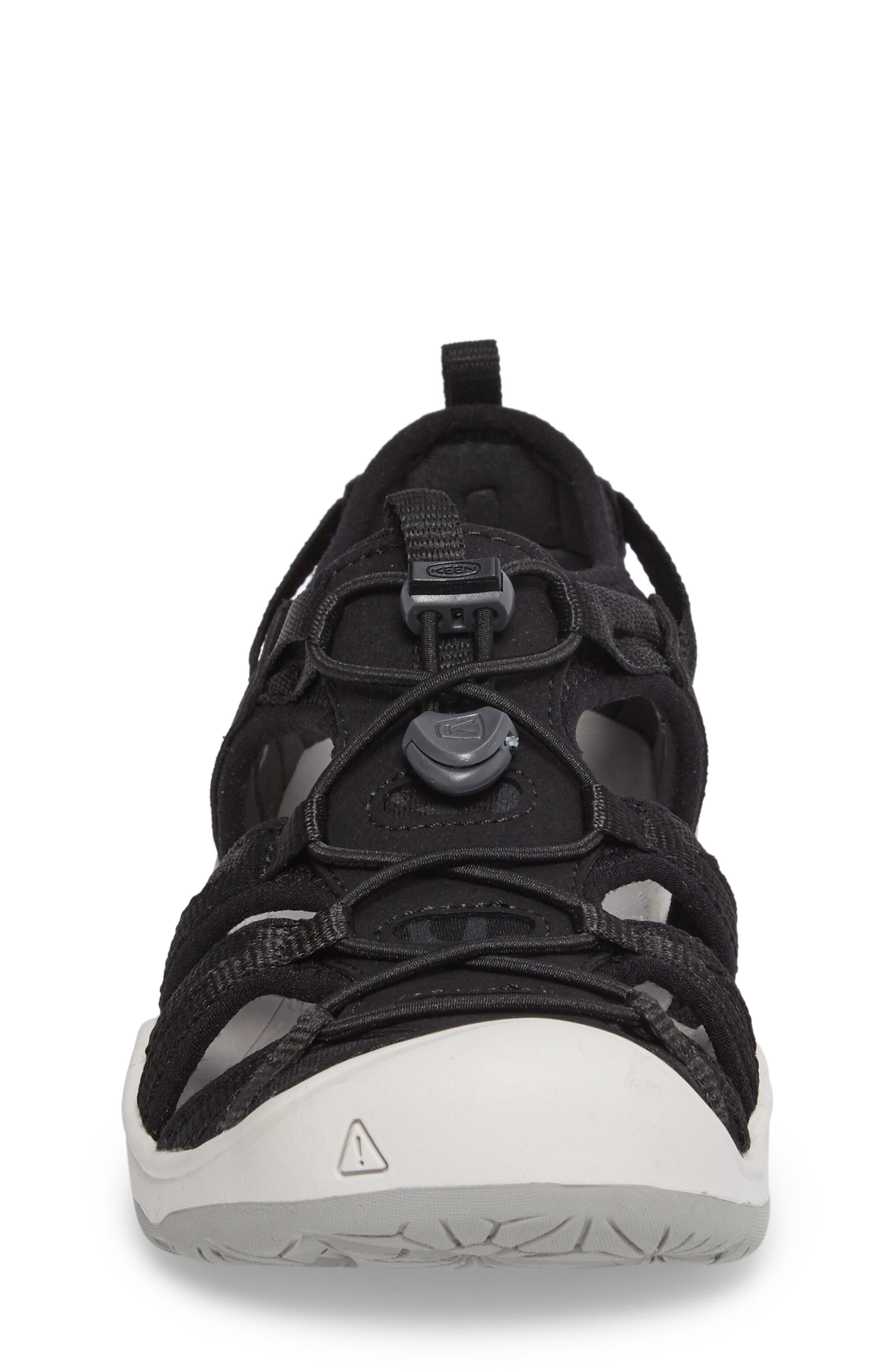KEEN, Moxie Water Friendly Sandal, Alternate thumbnail 4, color, BLACK/ VAPOR