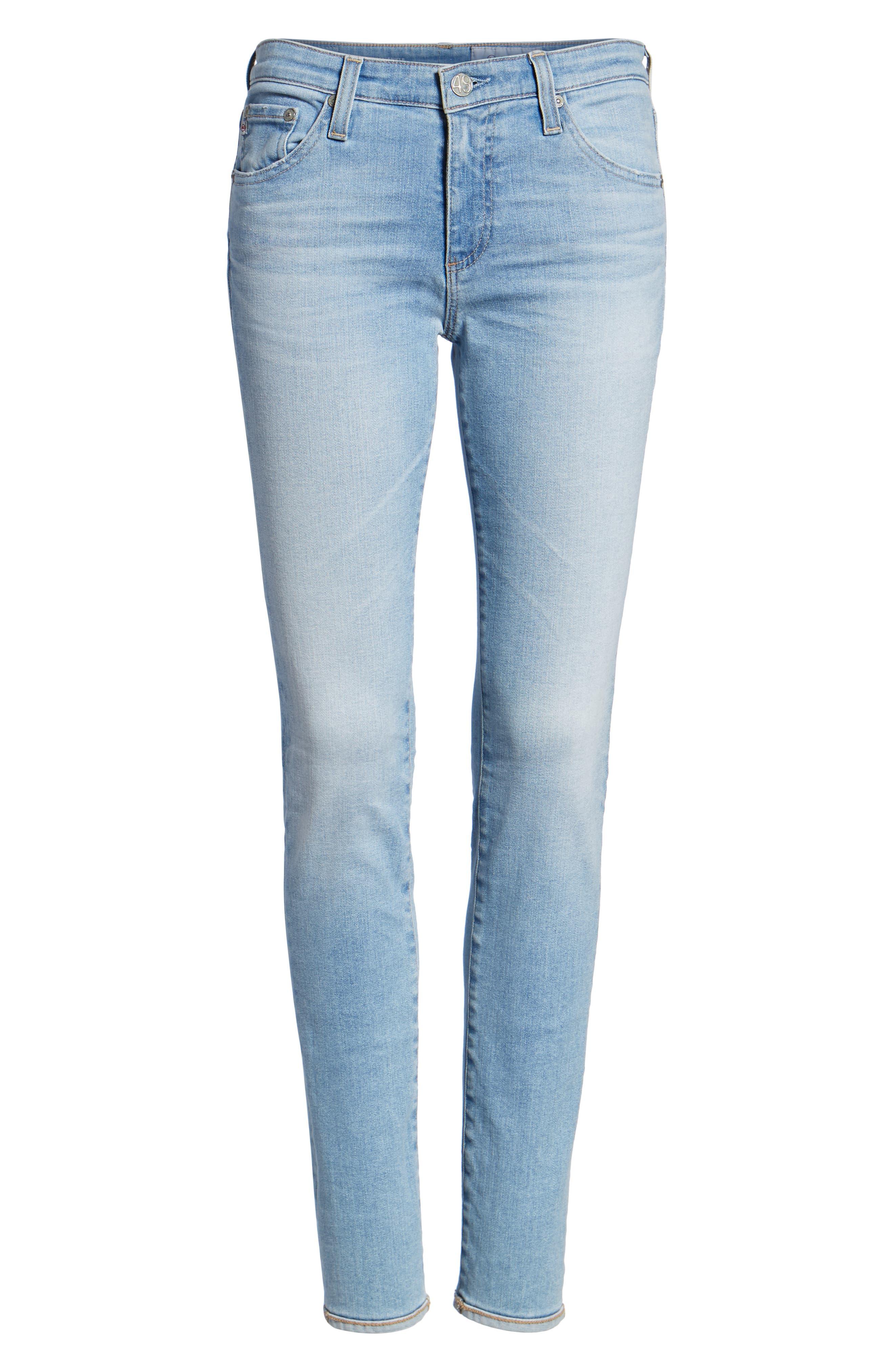 AG, Prima Ankle Cigarette Jeans, Alternate thumbnail 7, color, 27Y AVERSIONS