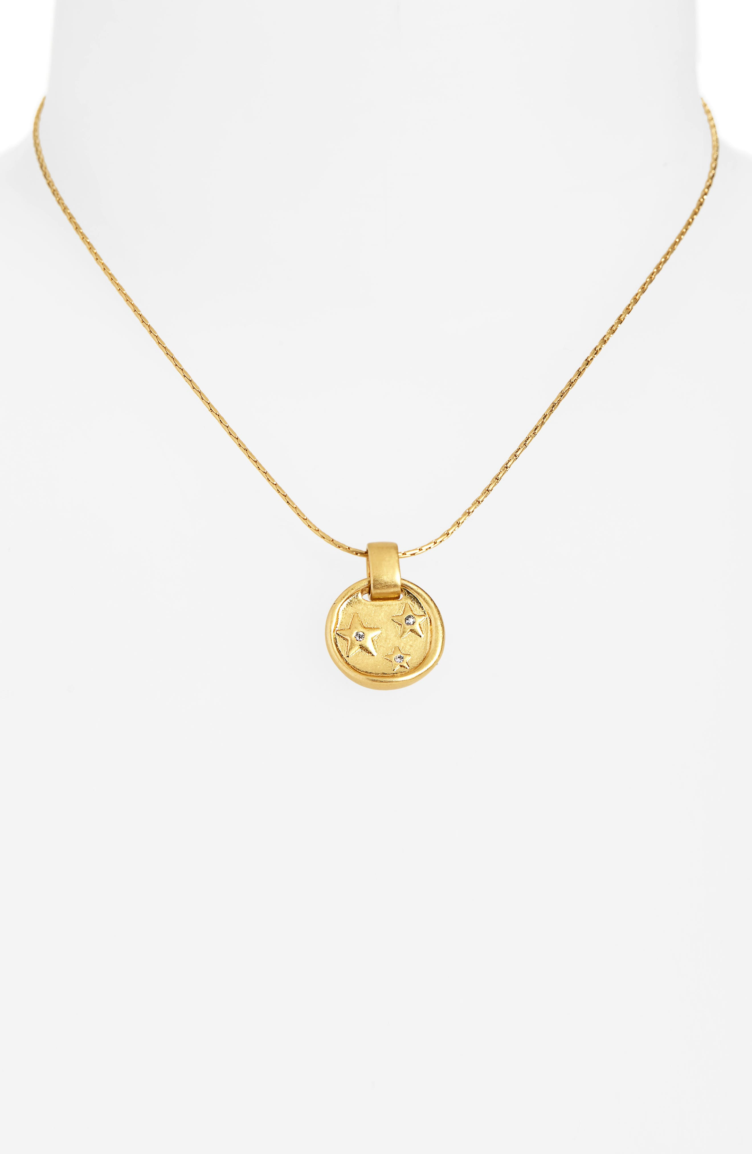MADEWELL, Star Sparkle Necklace, Alternate thumbnail 2, color, 710