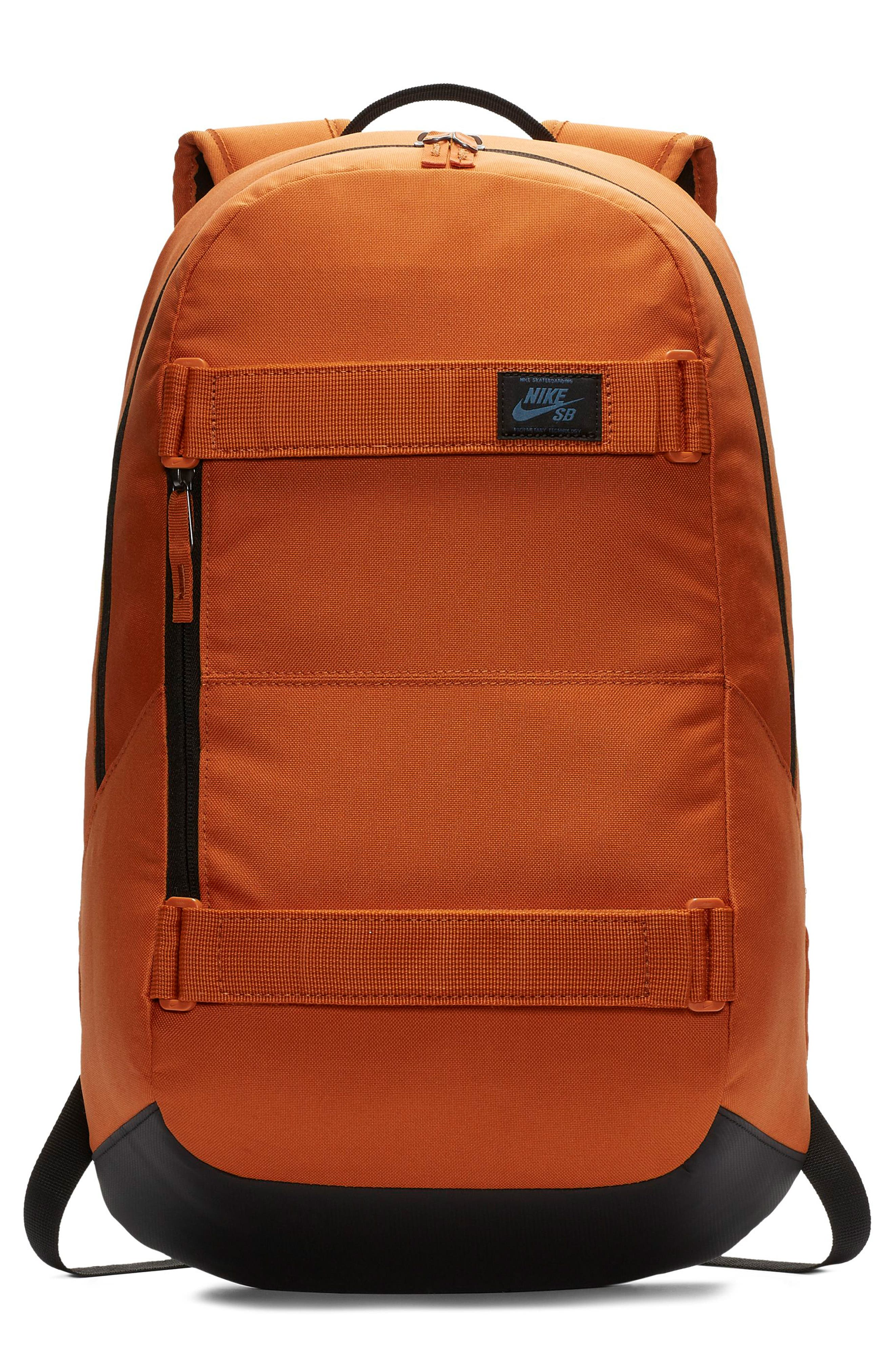 NIKE SB Courthouse Backpack, Main, color, CINDER ORANGE