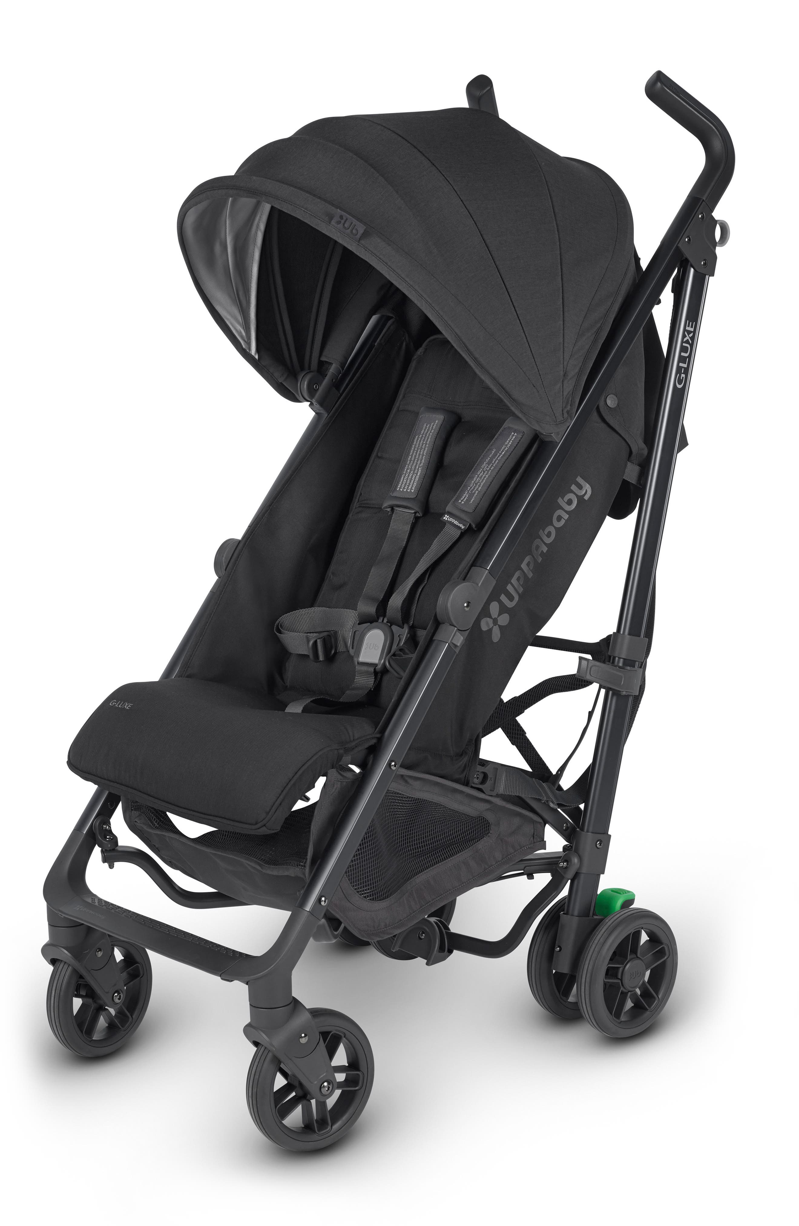 UPPABABY G-LUXE 2018 Reclining Umbrella Stroller, Main, color, JAKE BLACK/ CARBON