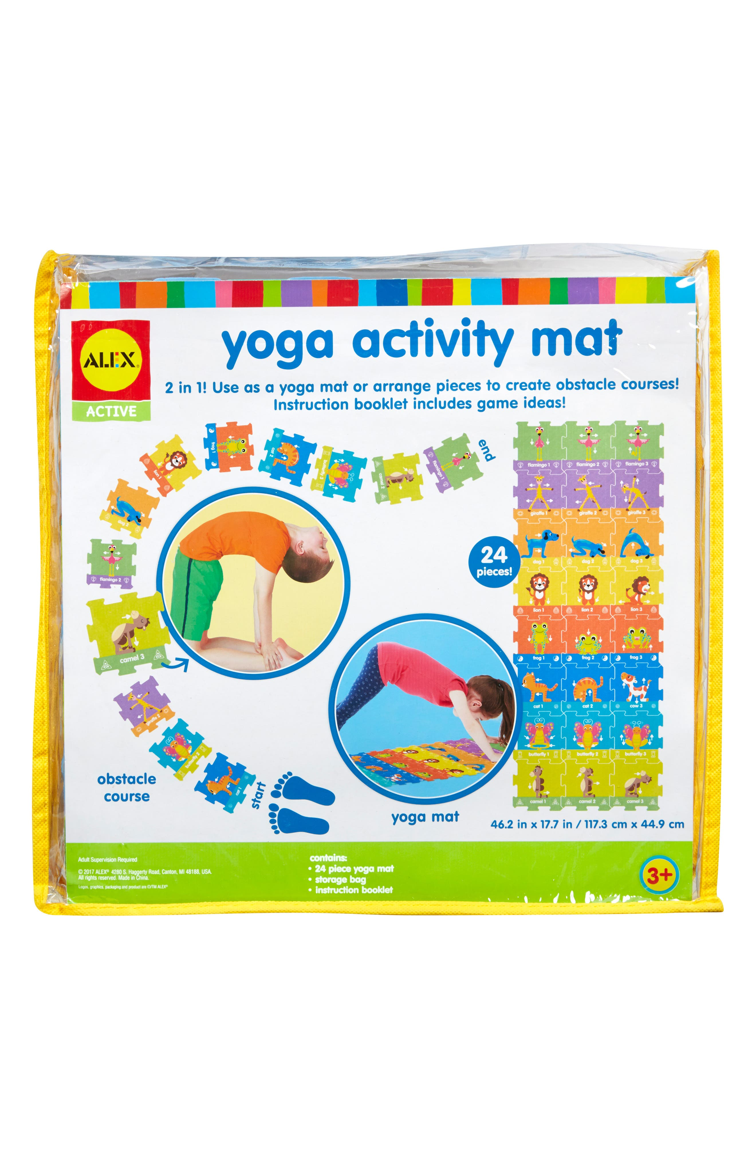 ALEX<SUP>®</SUP> TOYS, Yoga Activity Mat, Alternate thumbnail 2, color, 960