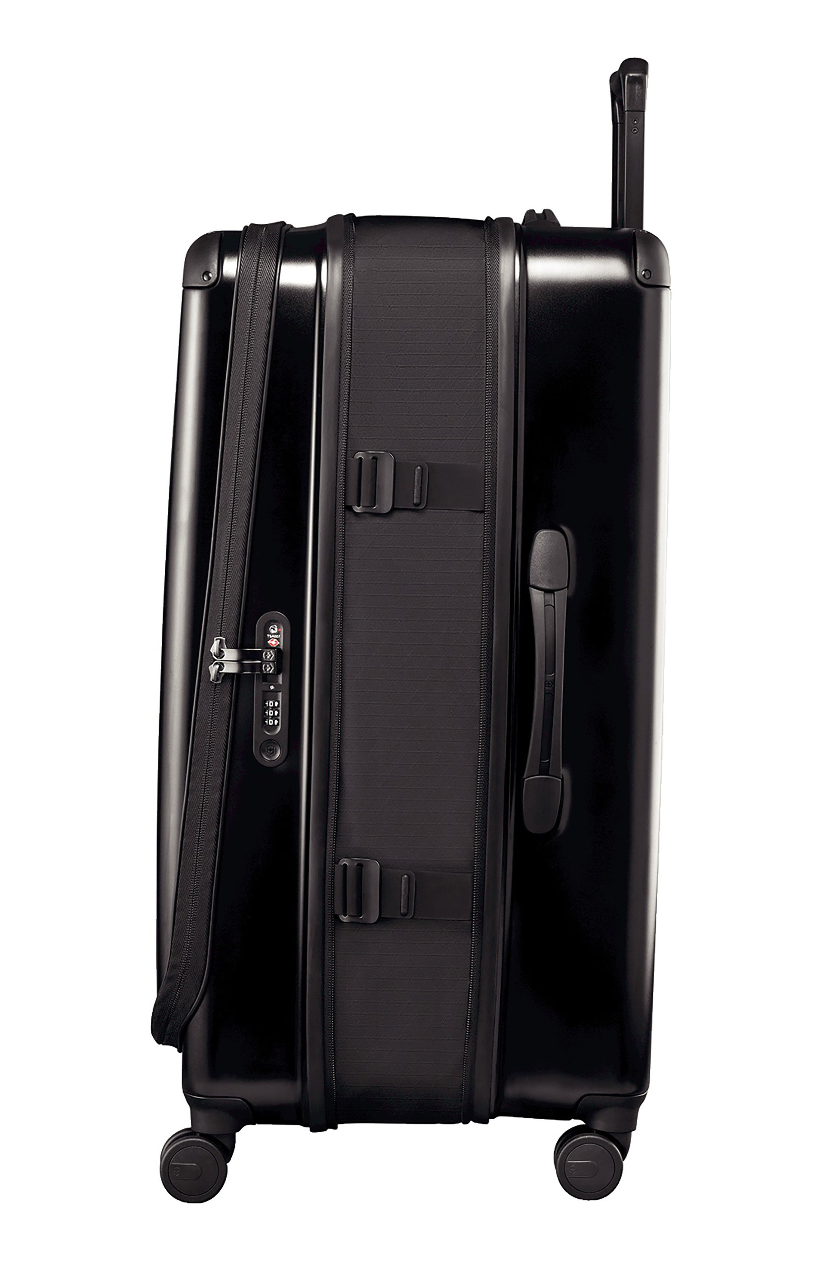 VICTORINOX SWISS ARMY<SUP>®</SUP>, Spectra 2.0 32 Inch Hard Sided Rolling Travel Suitcase, Alternate thumbnail 4, color, BLACK