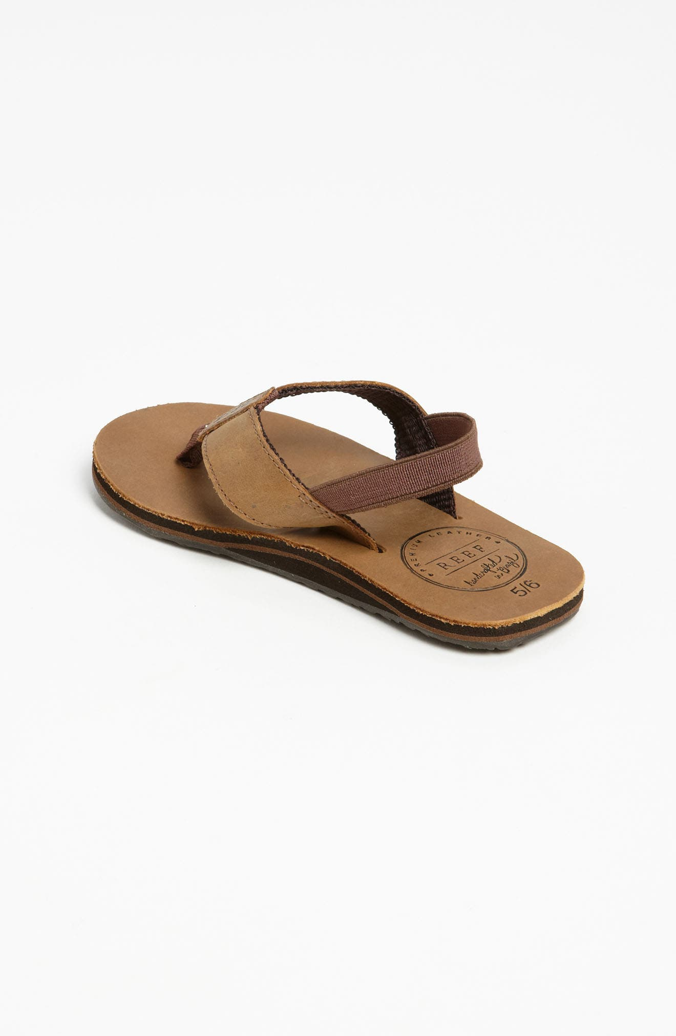 REEF, 'Grom' Leather Flip-Flop, Alternate thumbnail 2, color, BRONZE BROWN